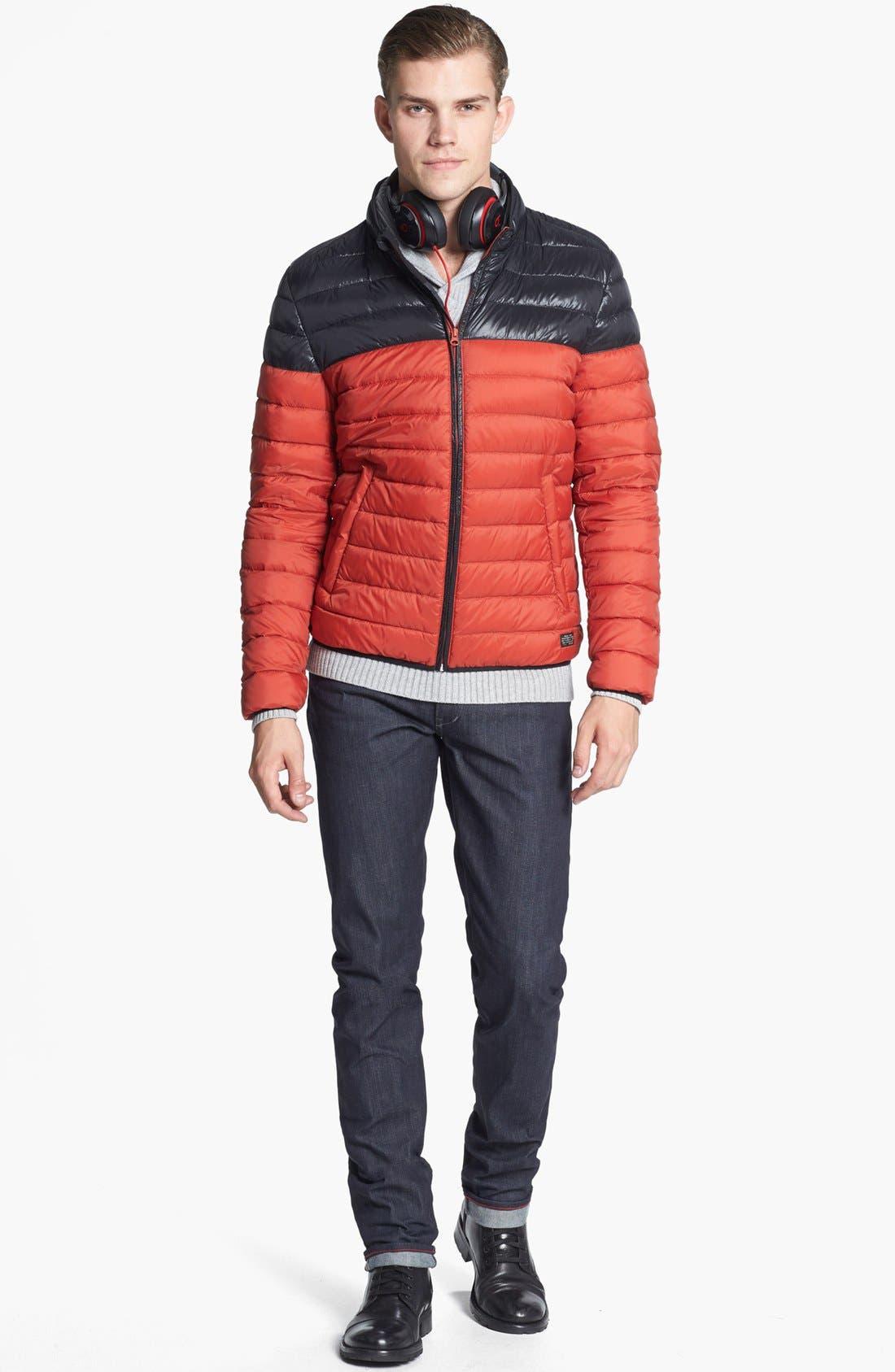 RALEIGH DENIM,                             'Martin' Skinny Fit Selvedge Jeans,                             Alternate thumbnail 6, color,                             401