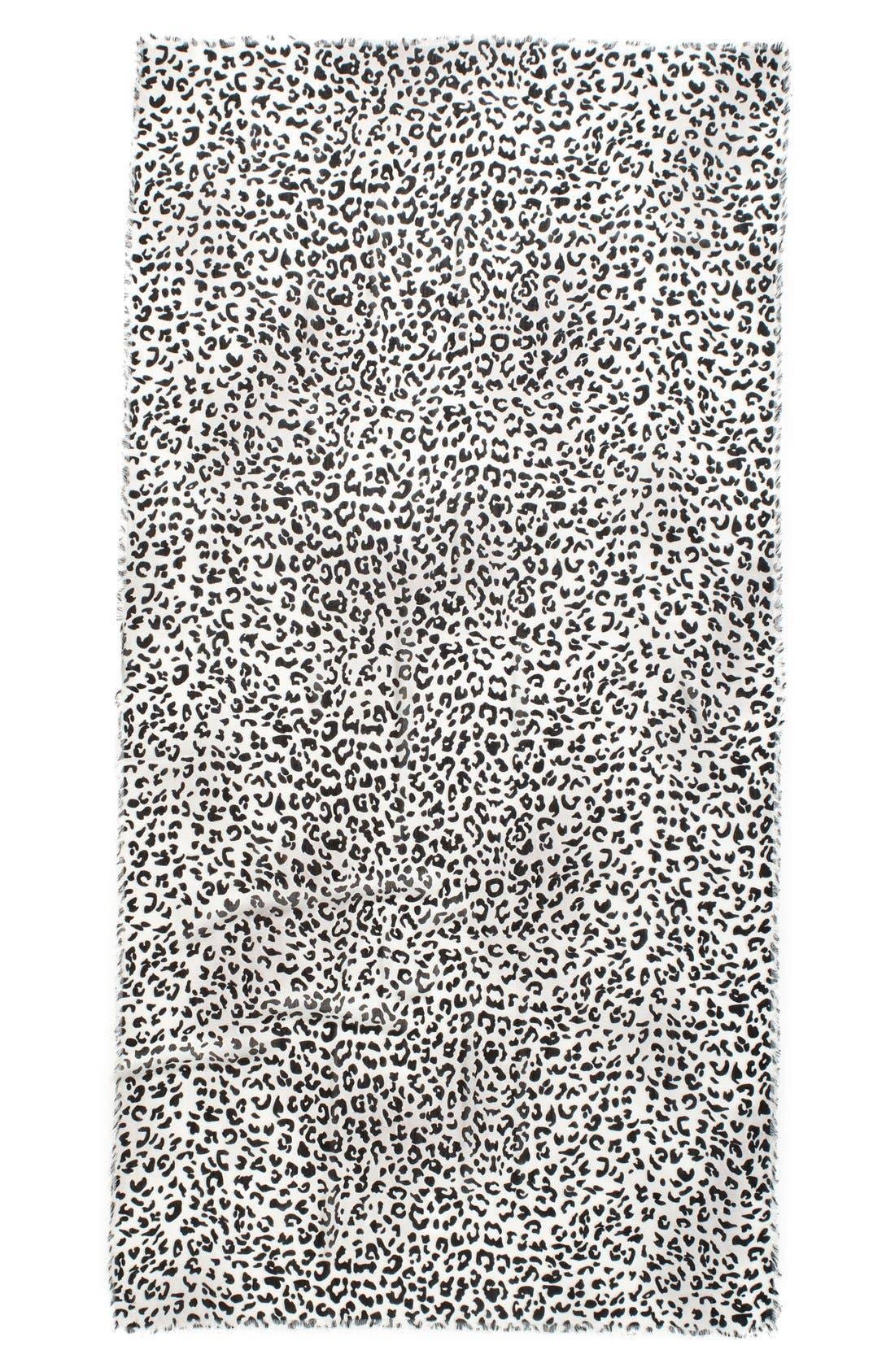 Leopard Print Wrap,                             Alternate thumbnail 4, color,                             001