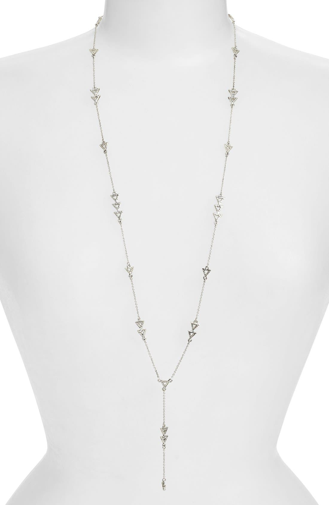 'Nilotic' Pavé Station Long Y-Necklace,                         Main,                         color,