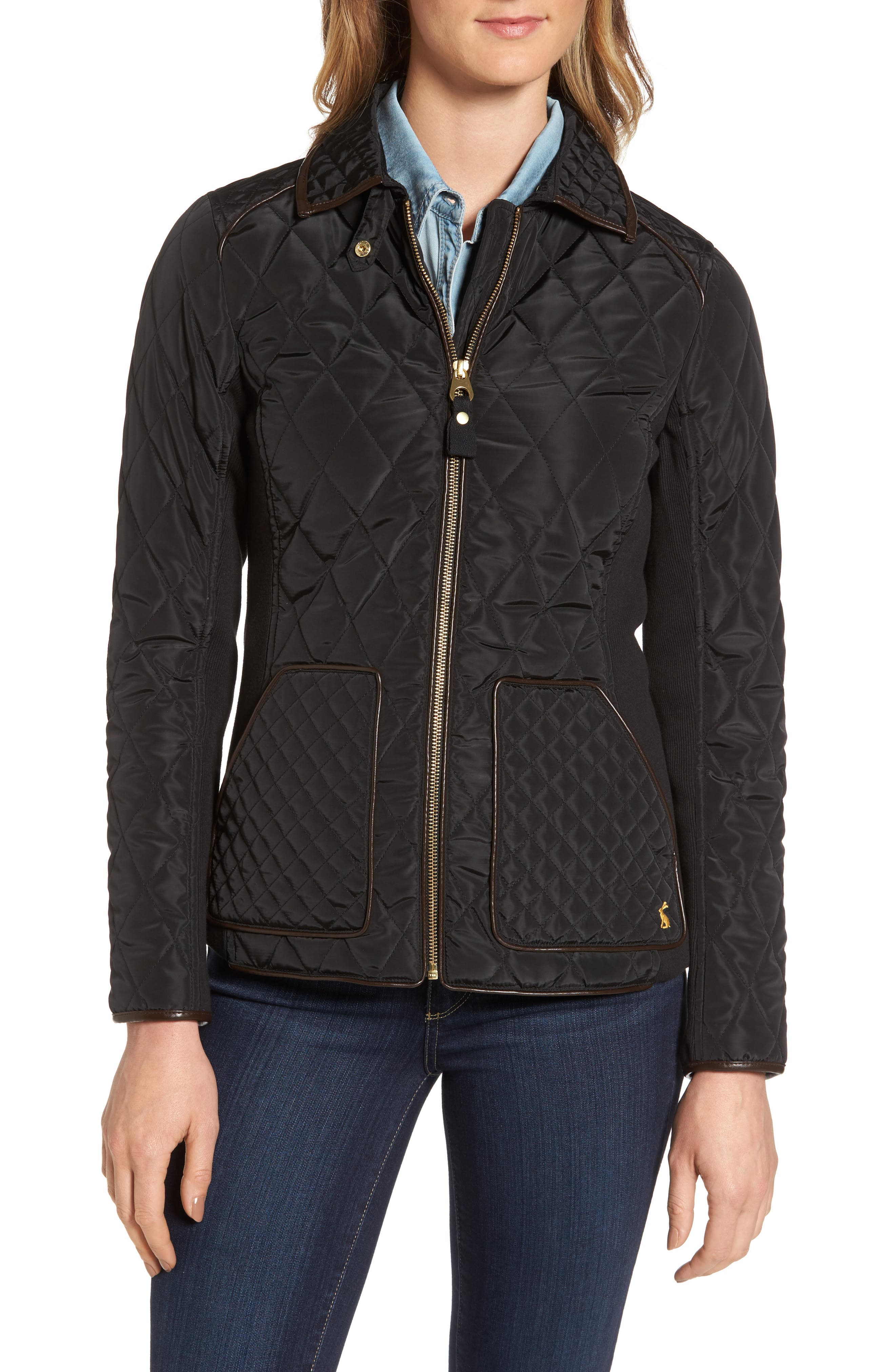 Warm Welcome Quilted Jacket,                             Alternate thumbnail 4, color,                             001