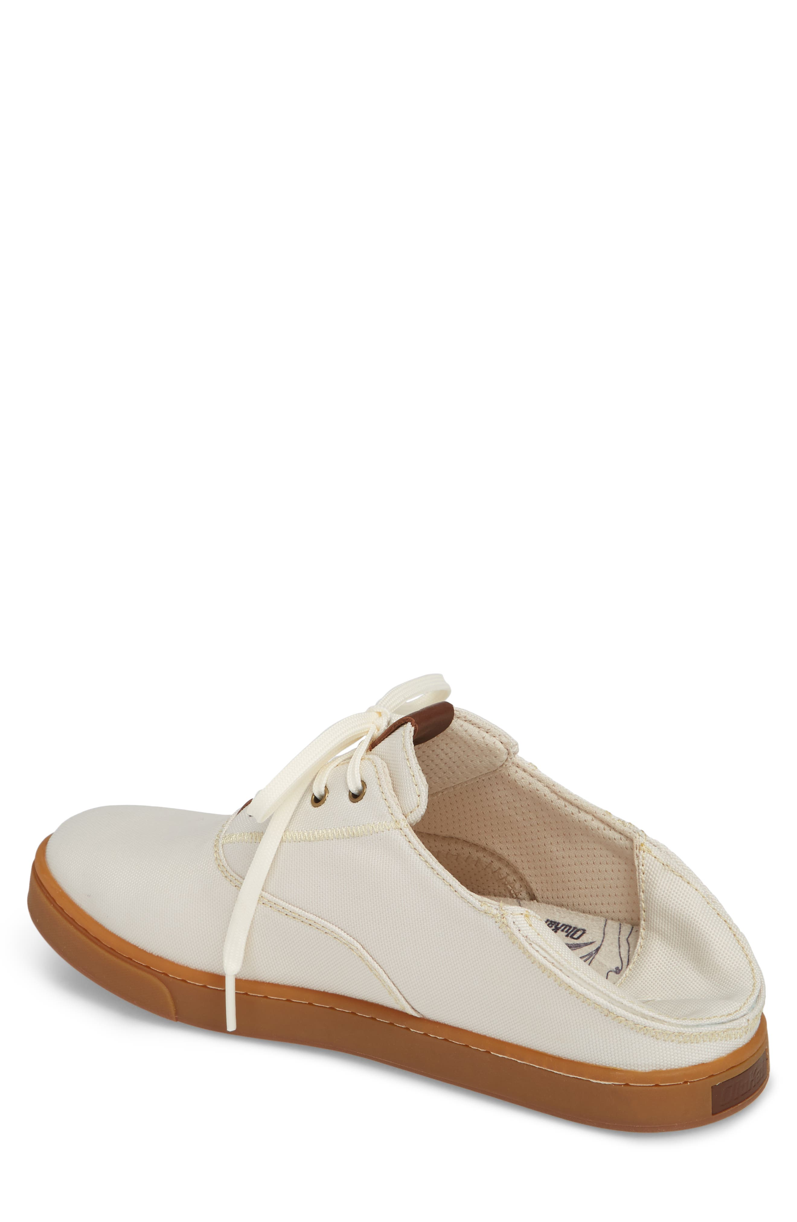 Kahu Collapsible Lace-Up Sneaker,                             Alternate thumbnail 3, color,                             OFF WHITE/ TOFFEE