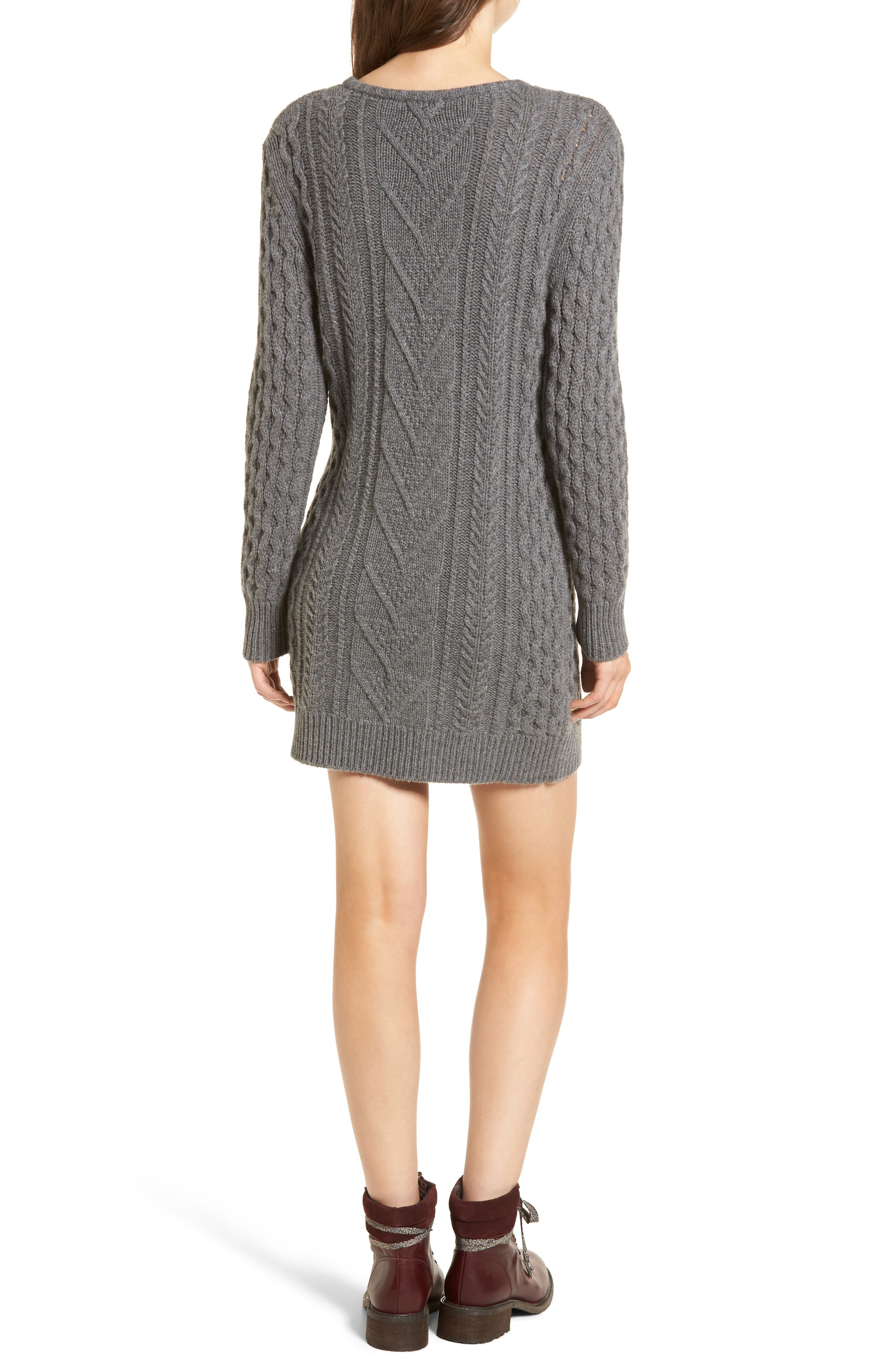 Jesse Sweater Minidress,                             Alternate thumbnail 2, color,                             020