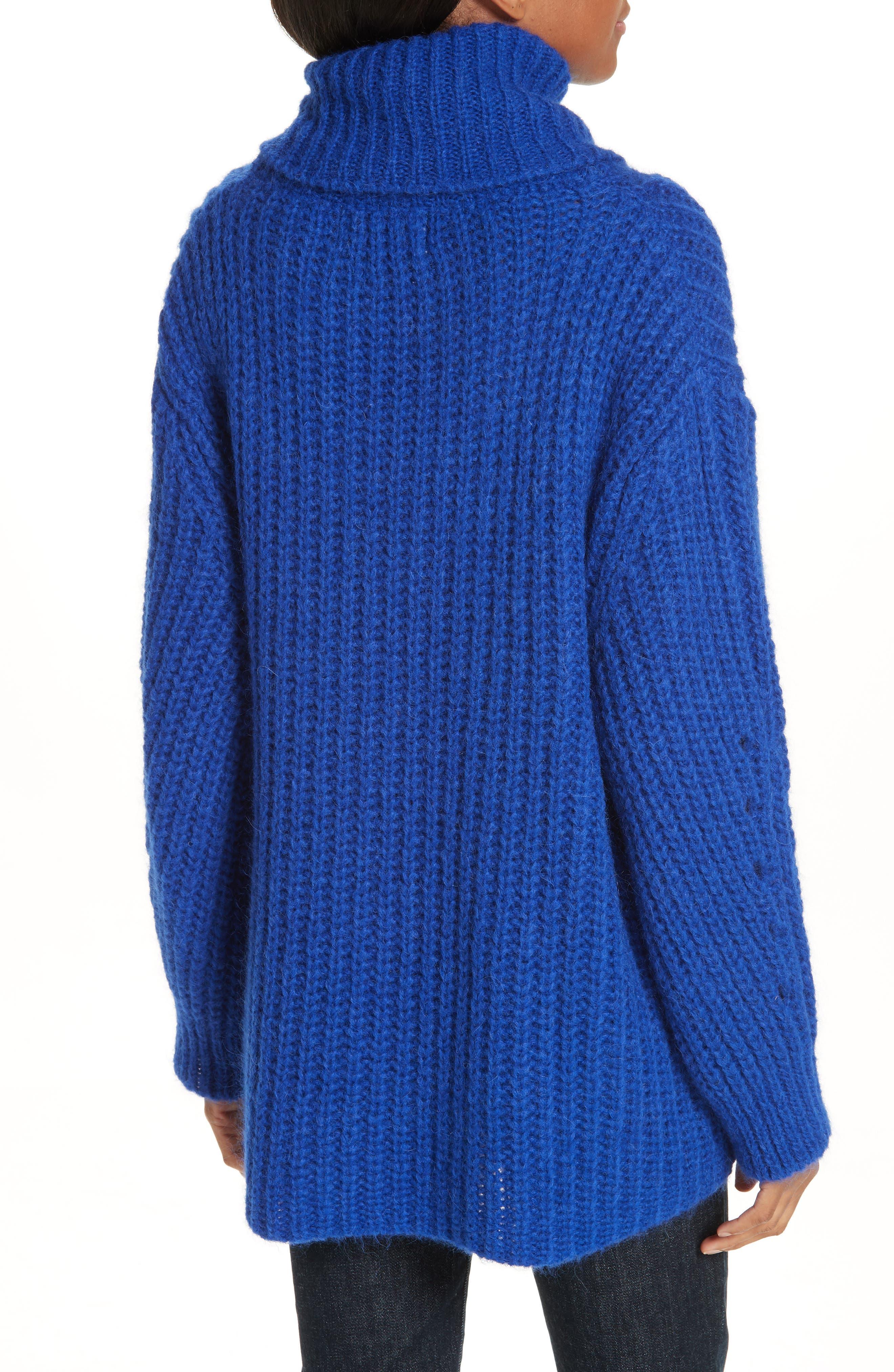 Emera Turtleneck Sweater,                             Alternate thumbnail 2, color,                             BLUE