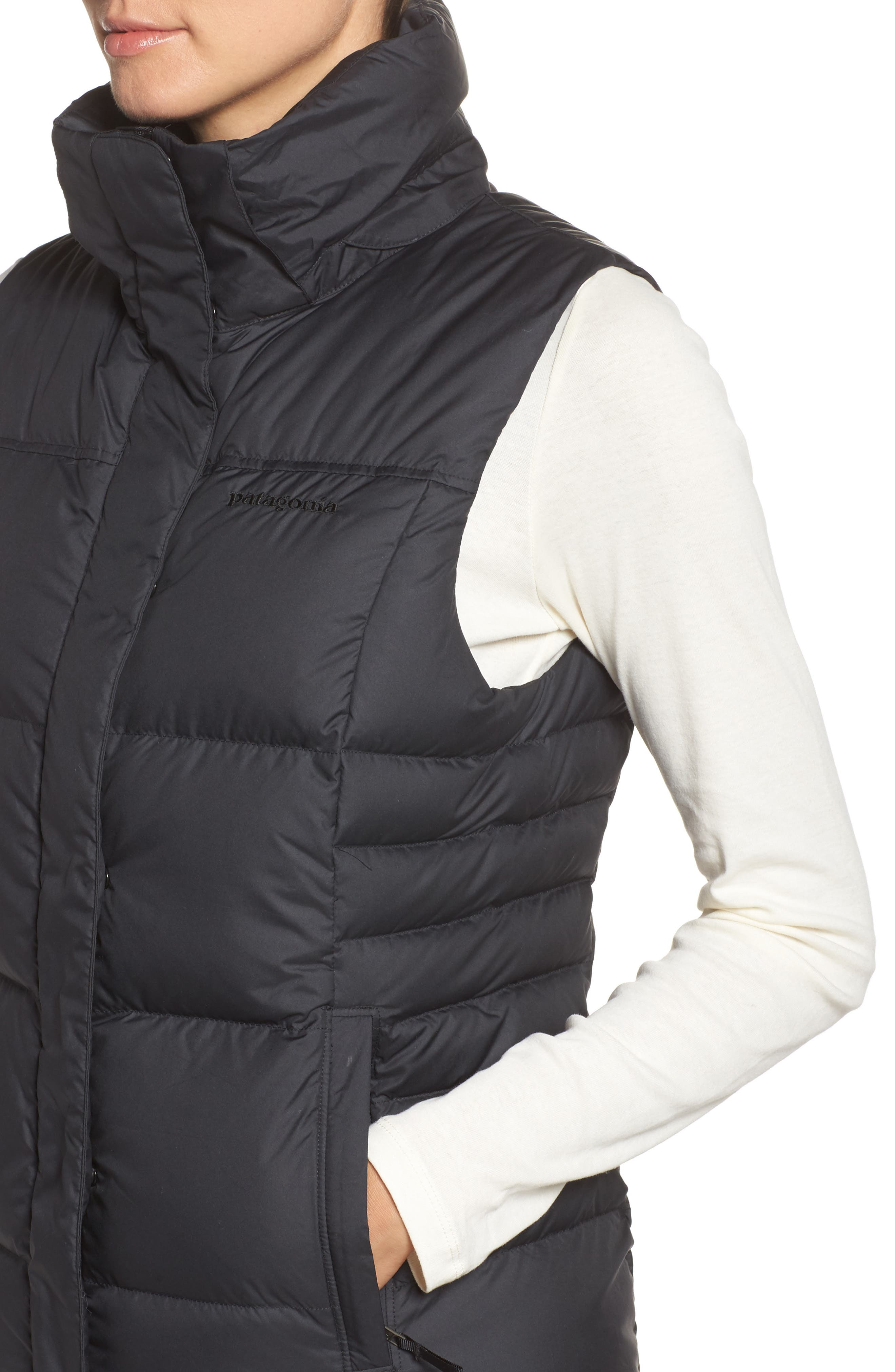 Down with It Hooded Down Vest,                             Alternate thumbnail 4, color,                             001