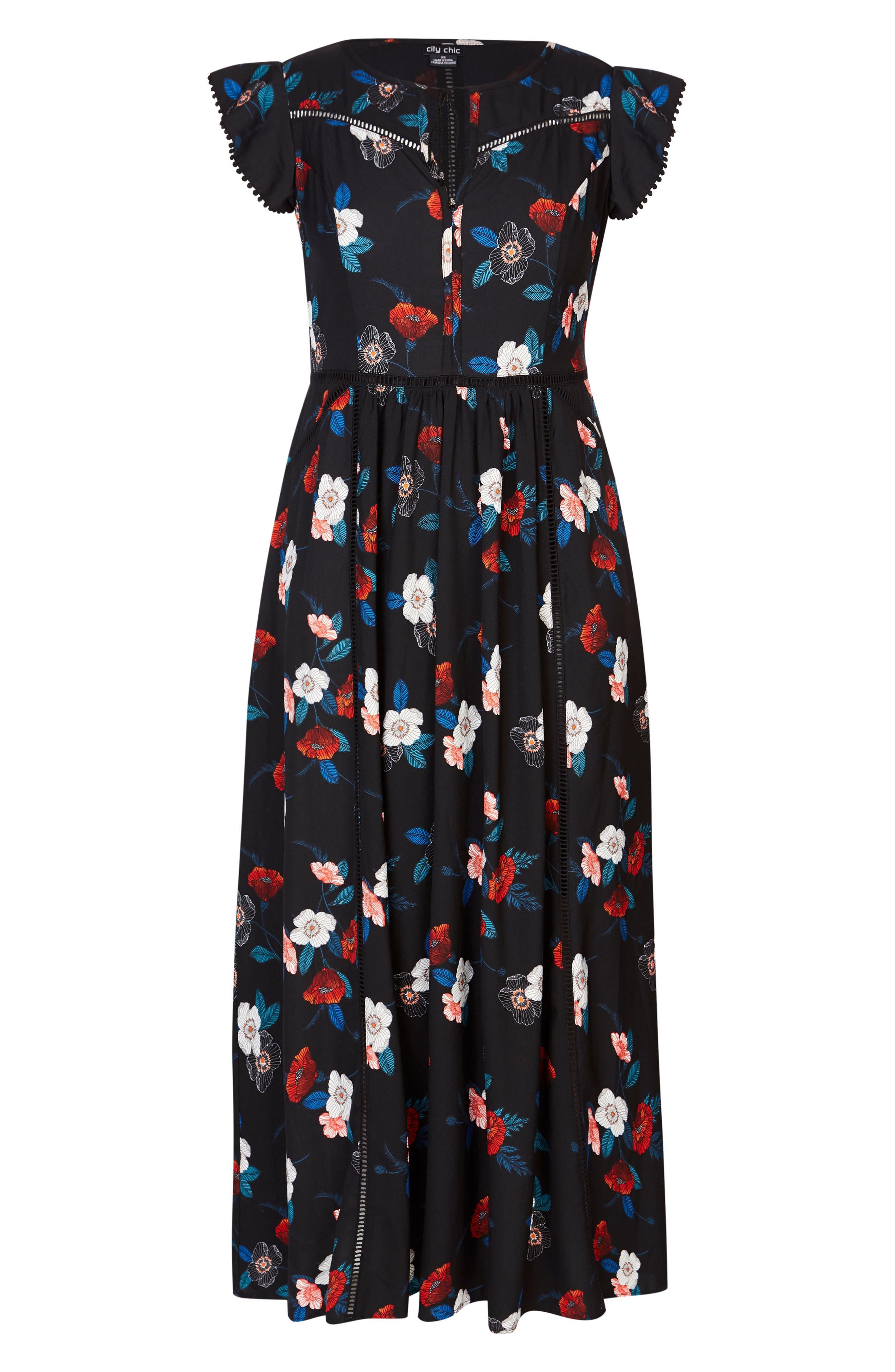 Spring Garden Maxi Dress,                             Alternate thumbnail 3, color,                             SPRING GARDEN