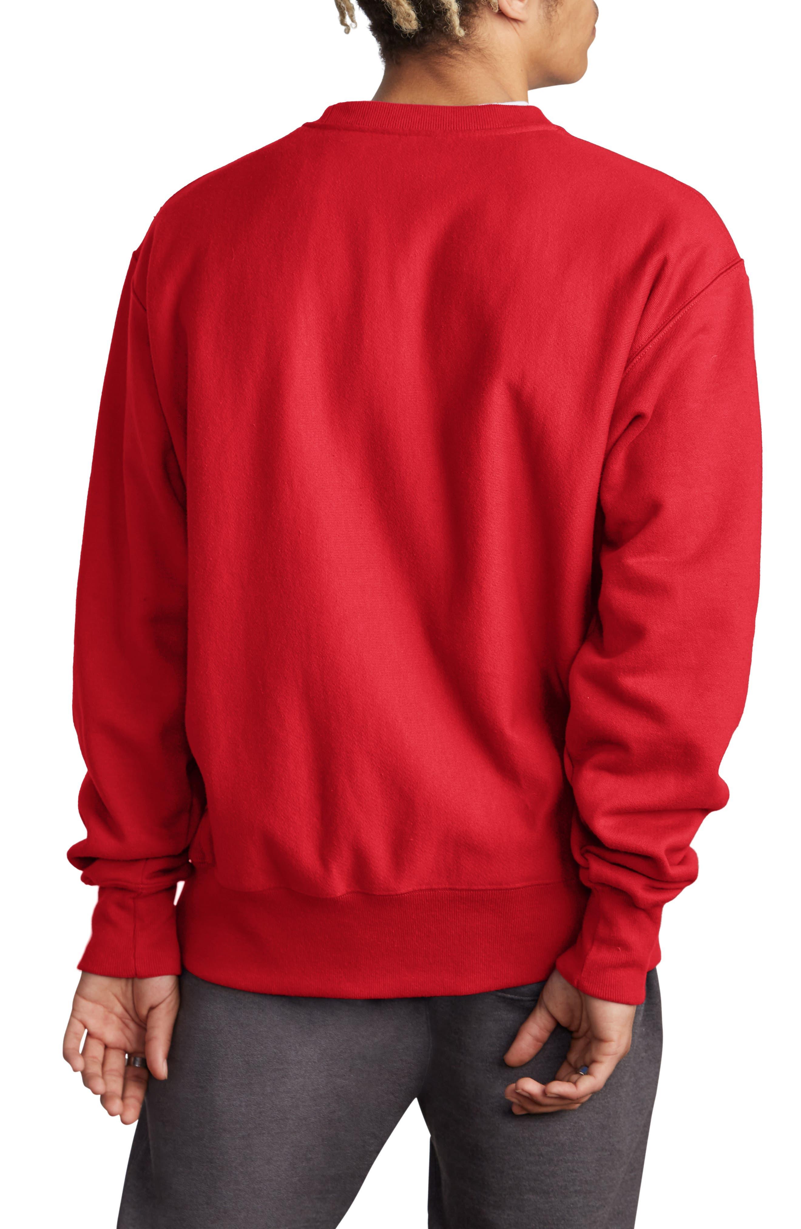 Sublimated Logo Crewneck Sweatshirt,                             Alternate thumbnail 2, color,                             TEAM RED SCARLET
