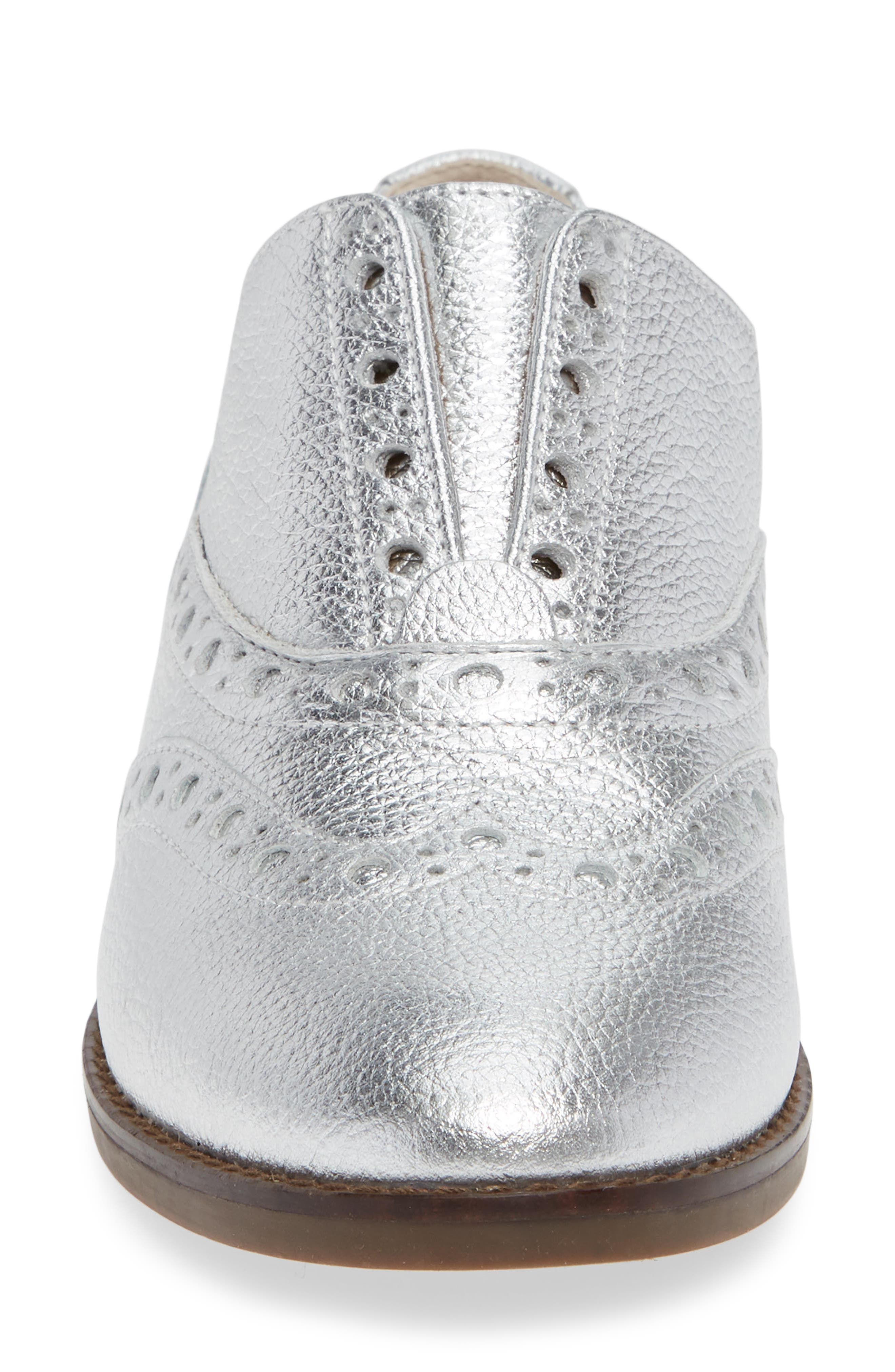 Hadley Wingtip,                             Alternate thumbnail 4, color,                             SILVER LEATHER