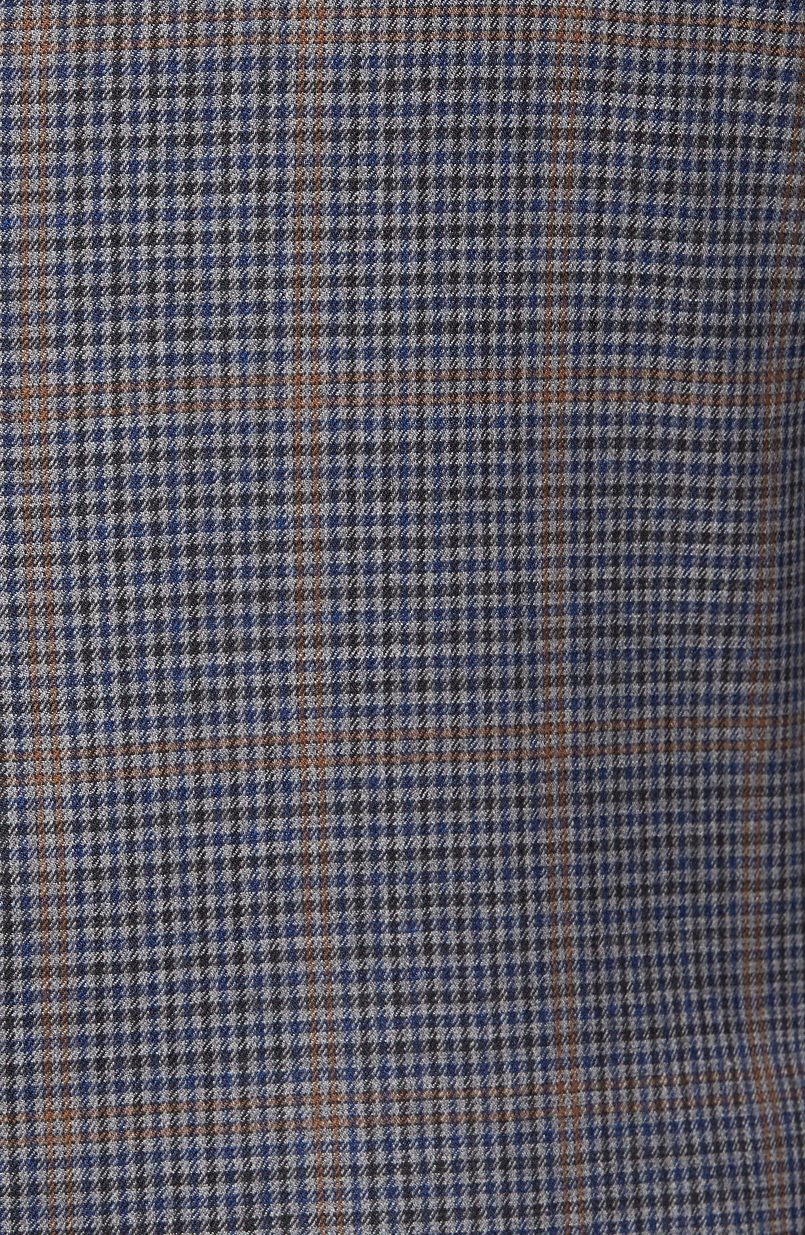 Classic Fit Plaid Wool Sport Coat,                             Alternate thumbnail 6, color,                             020