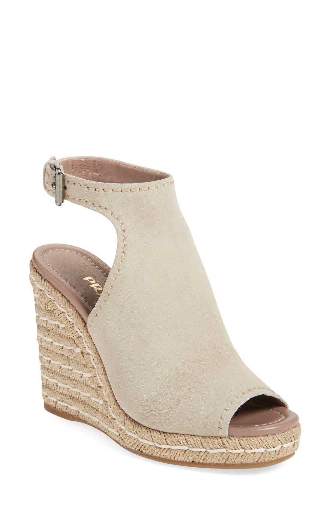 Ankle Strap Espadrille Wedge Sandal,                         Main,                         color, 250