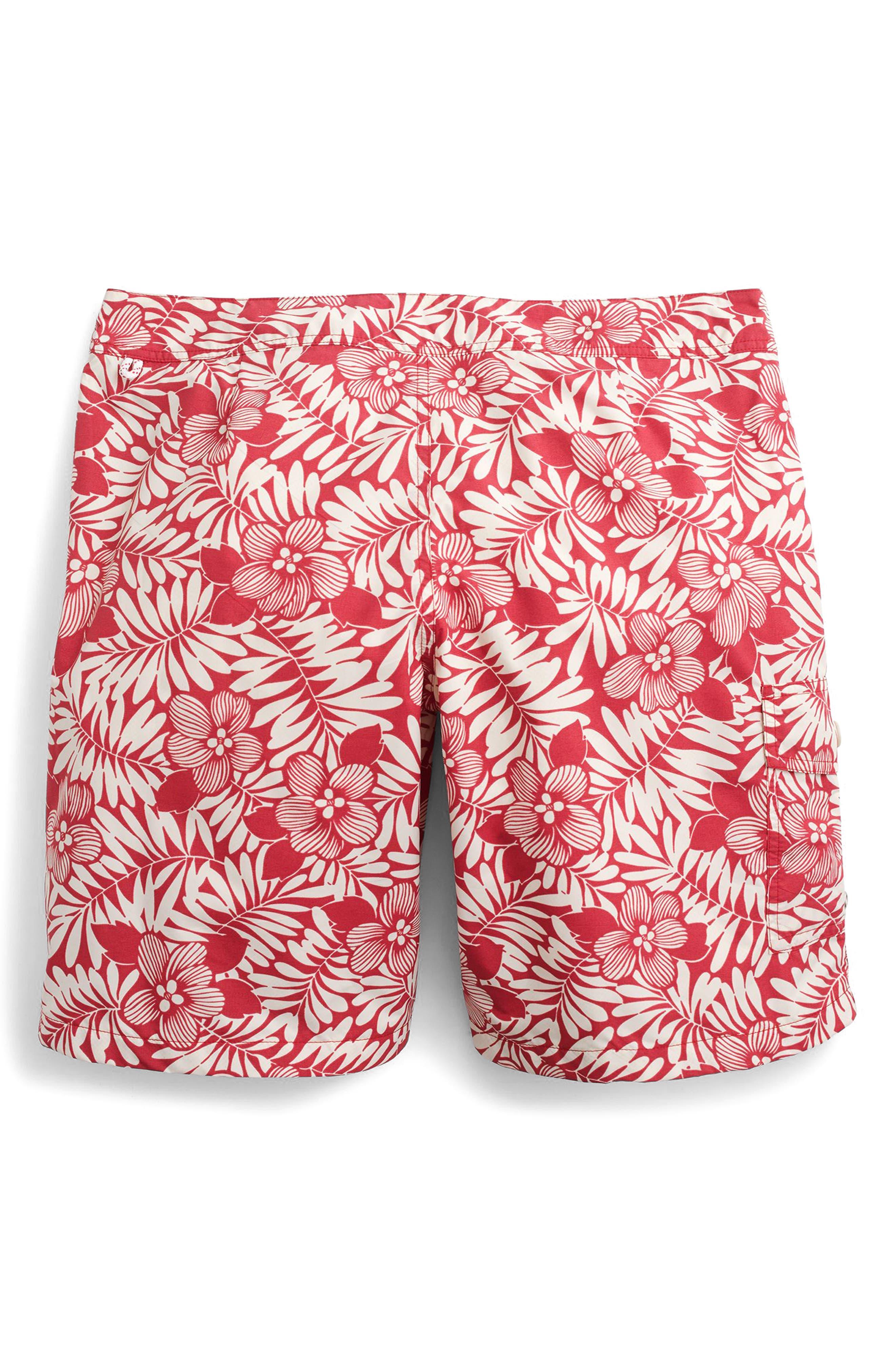 Fern Print Board Shorts,                             Alternate thumbnail 4, color,                             610