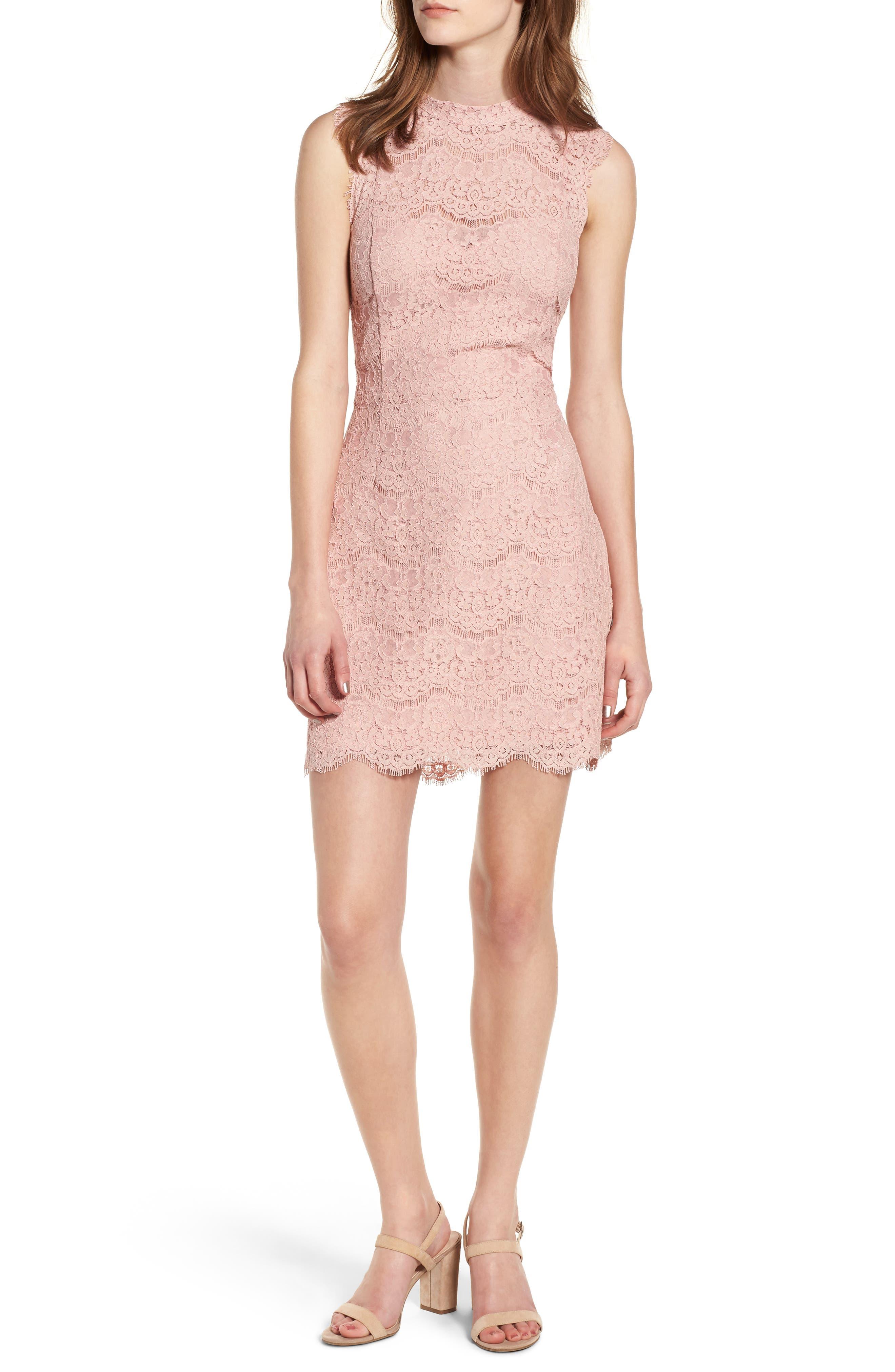 Lace Body-Con Minidress,                             Main thumbnail 3, color,
