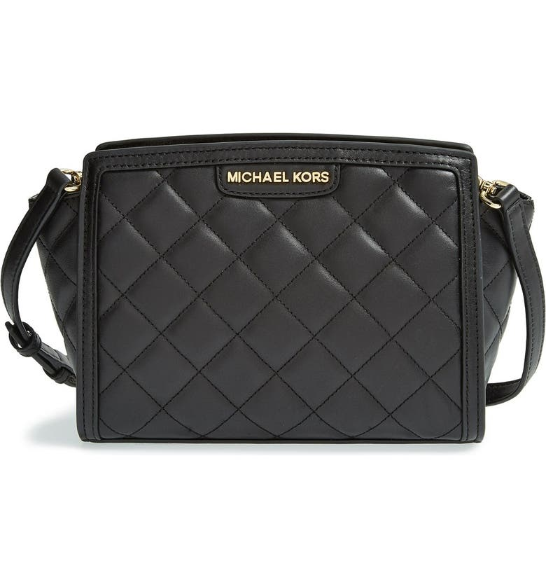 MICHAEL Michael Kors  Medium Selma  Quilted Leather Messenger Bag ... 48388c7d5229a