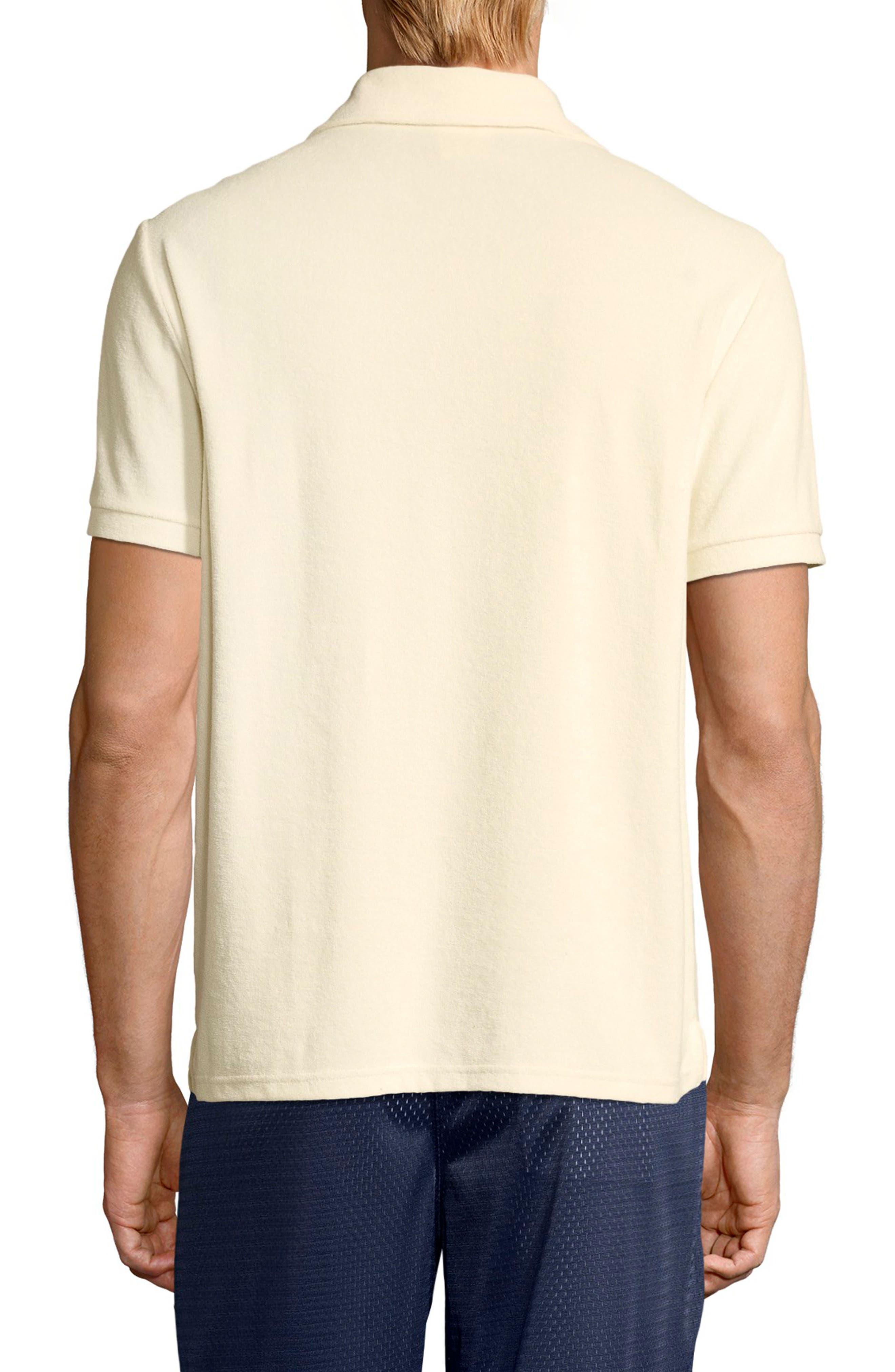 Sponge Terry Crewneck Sweatshirt,                             Alternate thumbnail 2, color,                             WHITE ALABASTER