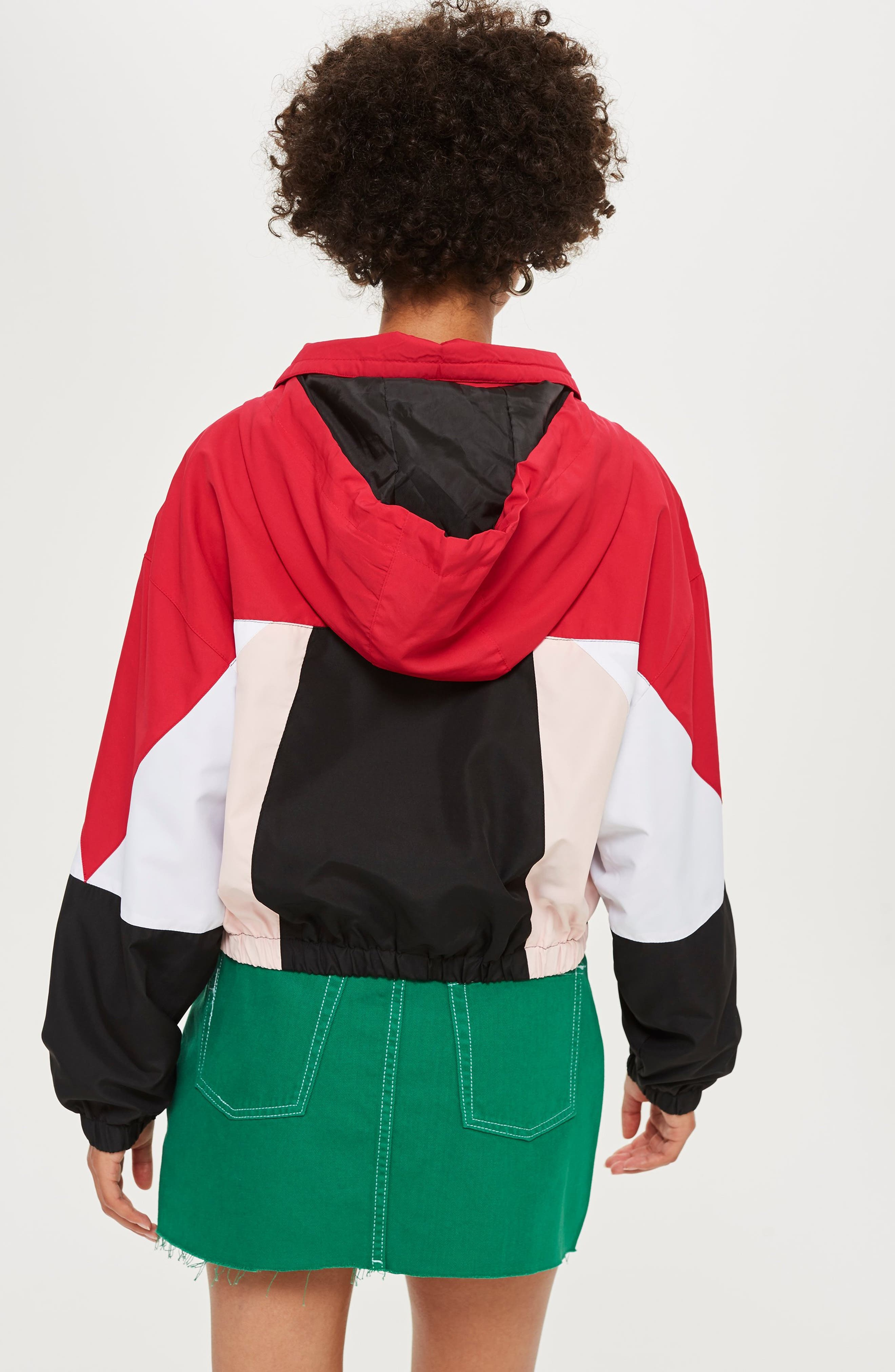 Overhead Colorblock Windbreaker Jacket,                             Alternate thumbnail 6, color,                             001