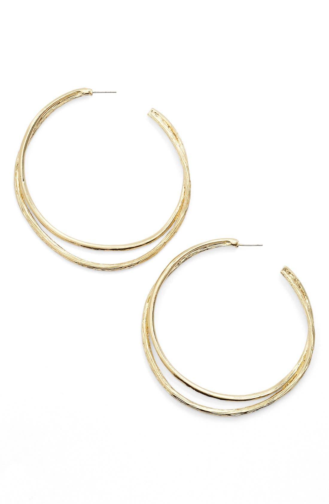 Split Hoop Earrings,                             Main thumbnail 1, color,                             GOLD