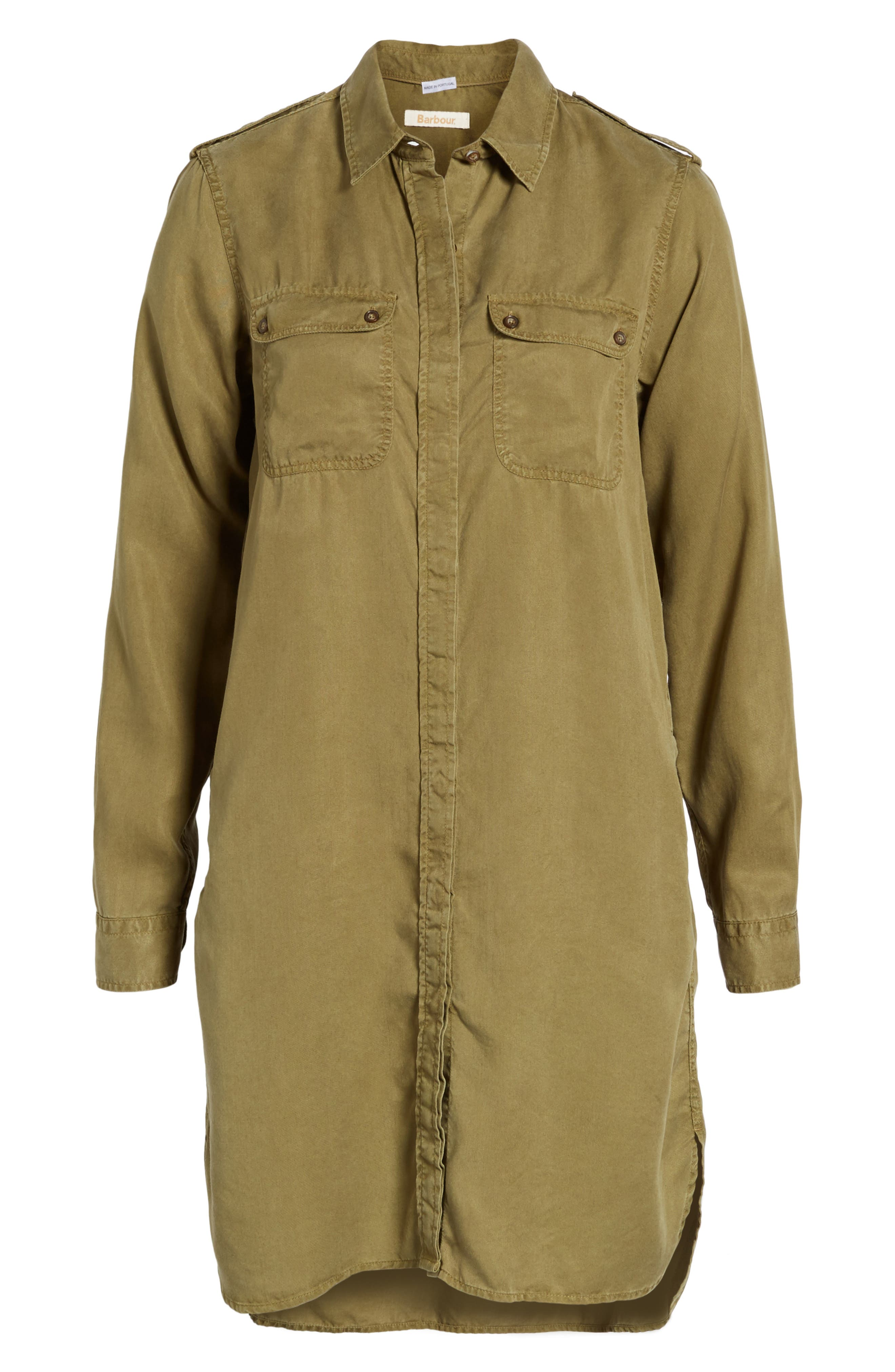 Langley Military Twill Dress,                             Alternate thumbnail 6, color,