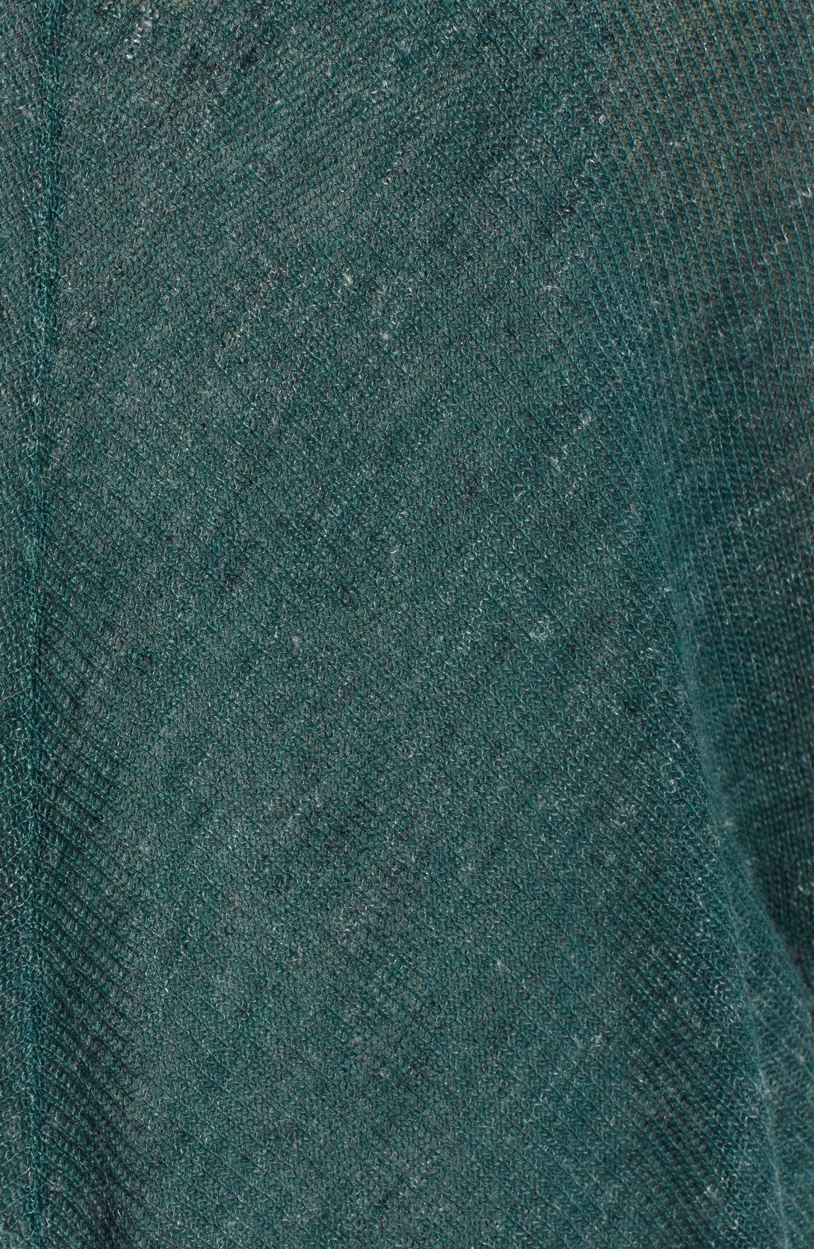 Dolman Sleeve Cardigan,                             Alternate thumbnail 6, color,                             GREEN BUG