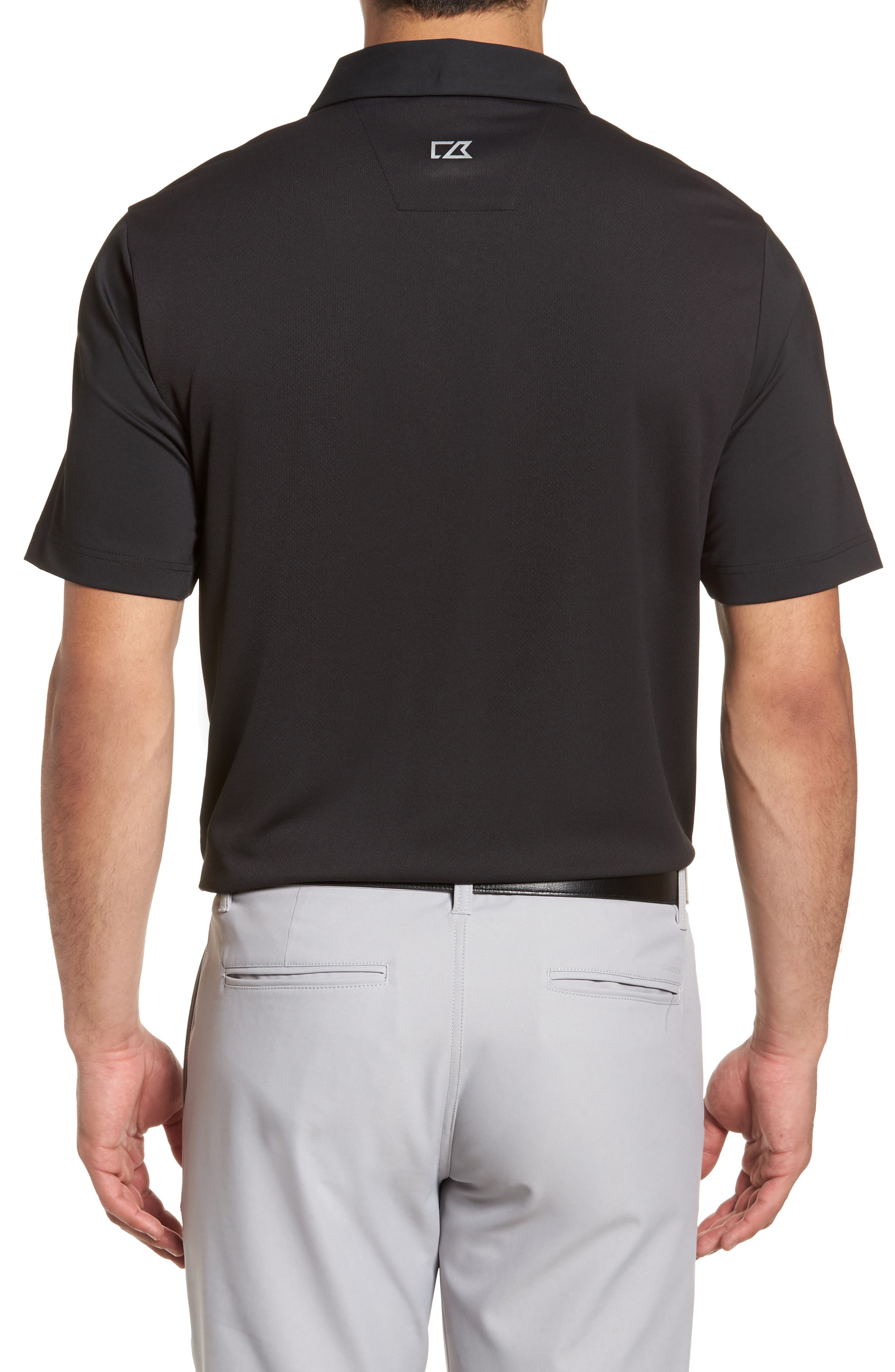 Fusion Classic Fit Polo,                             Alternate thumbnail 2, color,                             BLACK