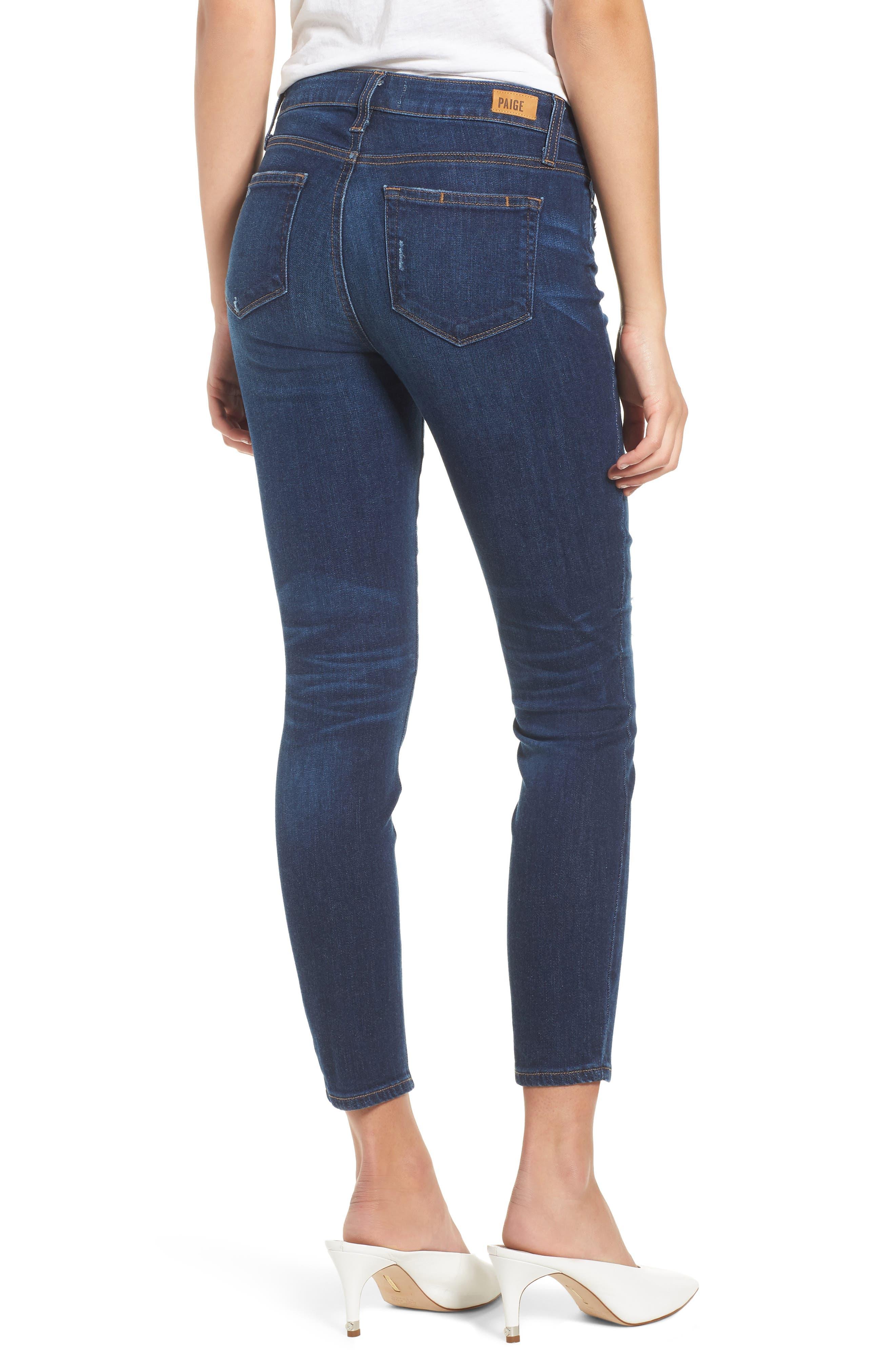 Verdugo Transcend Vintage Crop Skinny Jeans,                             Alternate thumbnail 2, color,                             400