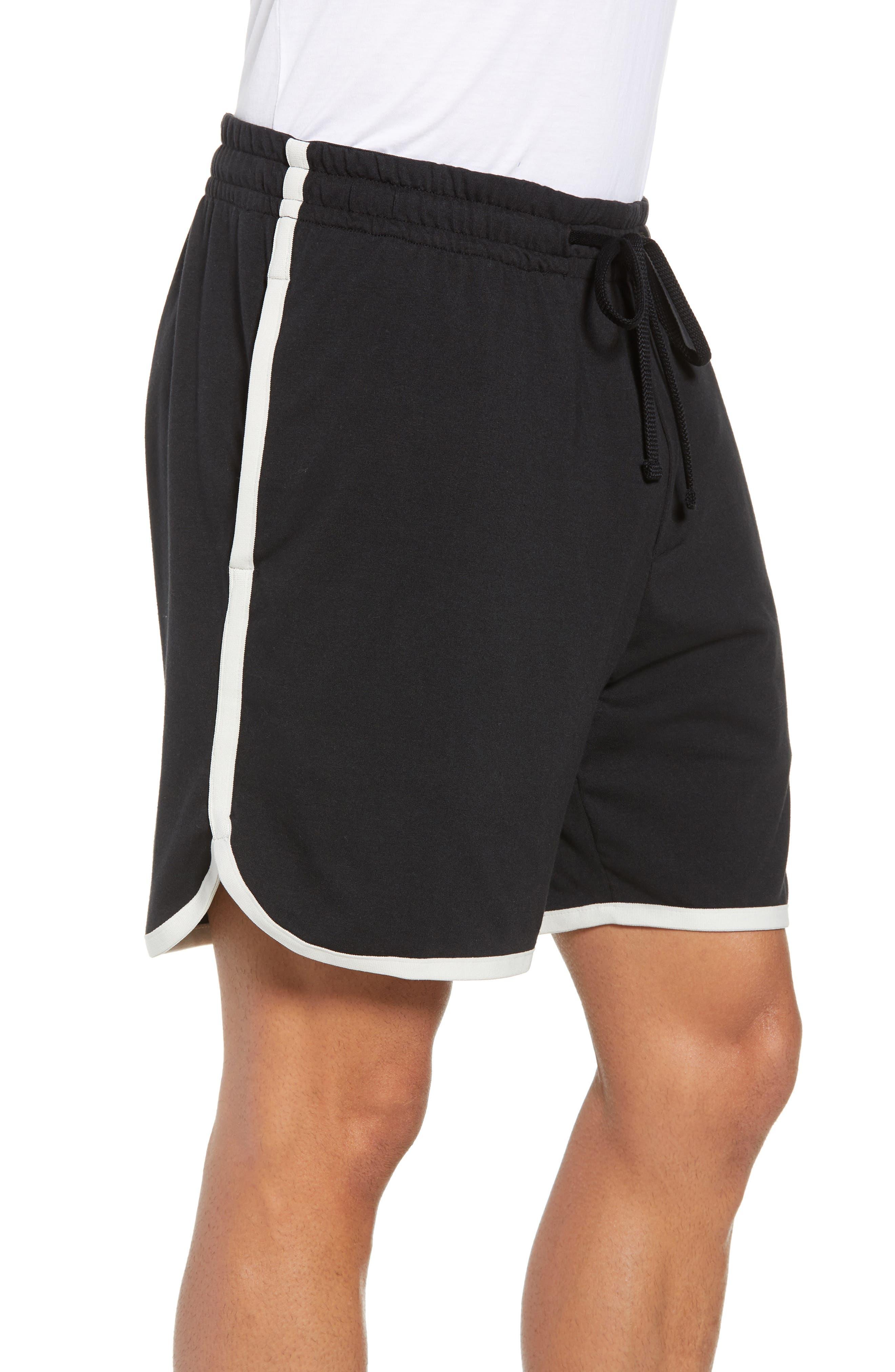 Vintage Regular Fit Gym Shorts,                             Alternate thumbnail 3, color,                             001