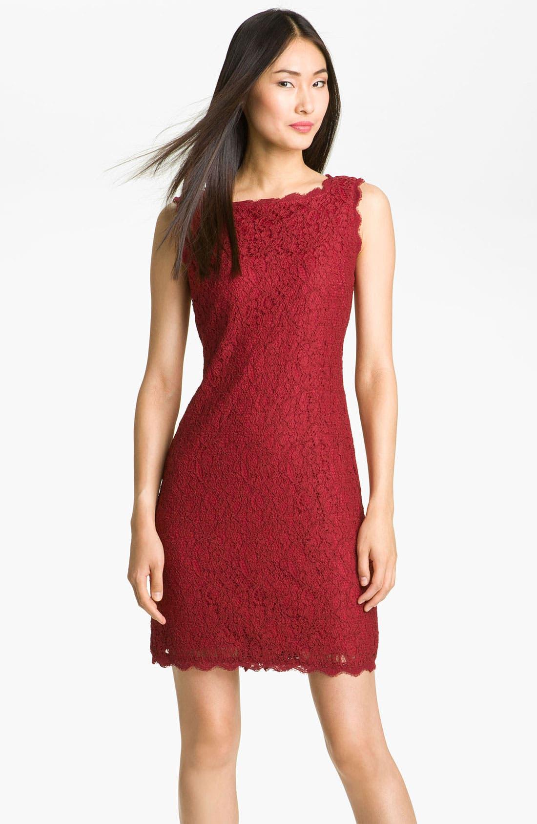 Boatneck Lace Sheath Dress,                             Main thumbnail 24, color,
