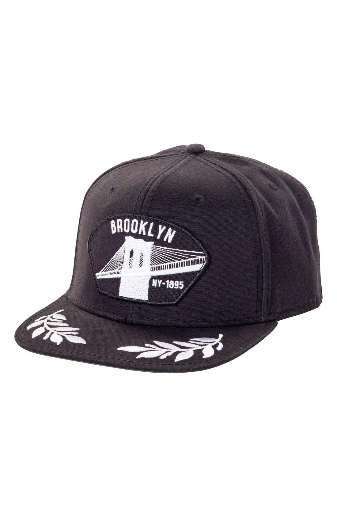 'Brooklyn NY' Baseball Cap,                         Main,                         color, 001