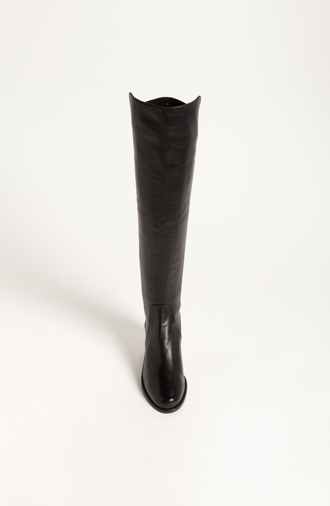 'Reserve' Over the Knee Boot,                             Alternate thumbnail 9, color,                             BLACK NAPPA