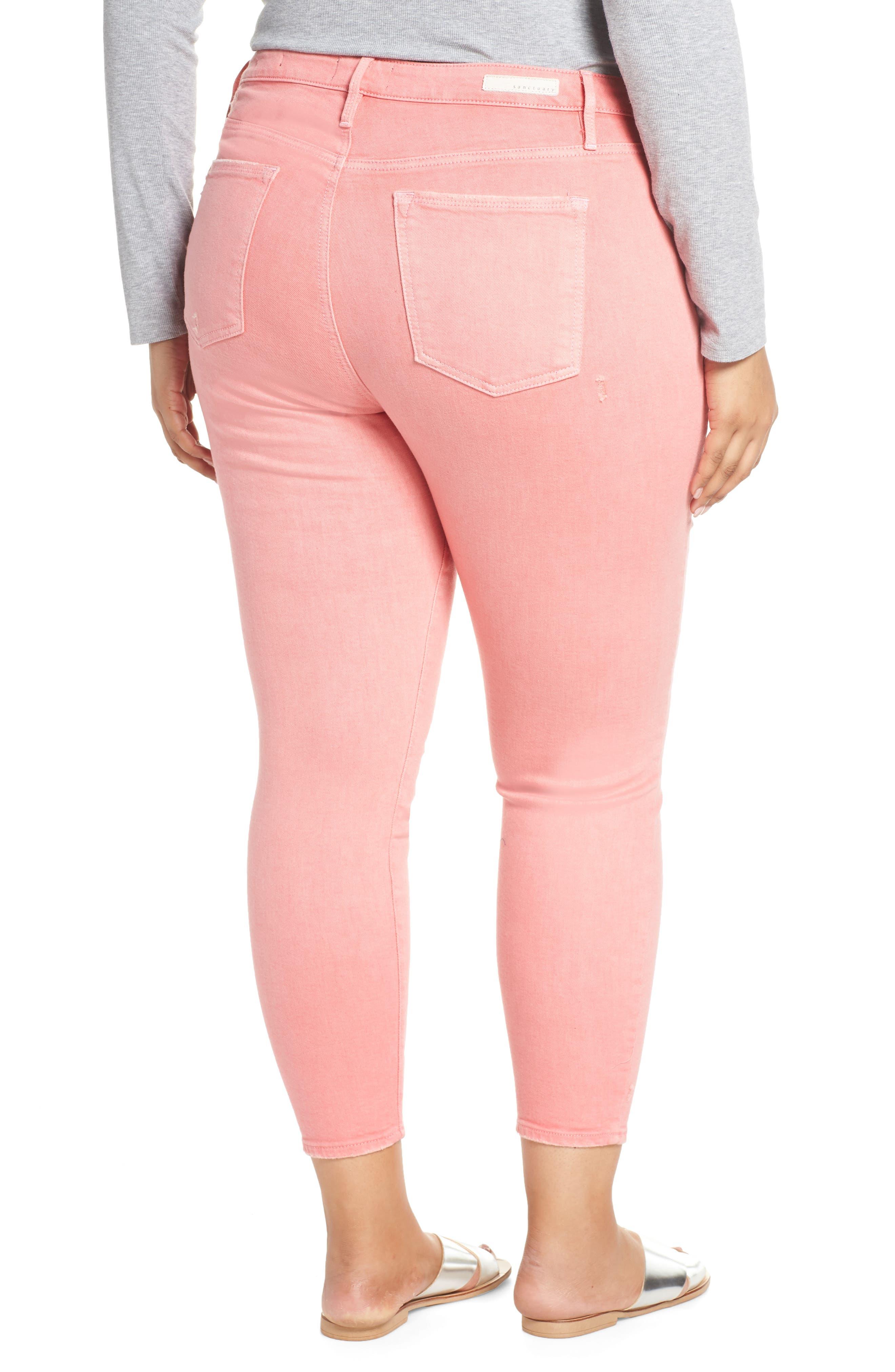 SANCTUARY,                             Social Standard Ankle Skinny Jeans,                             Alternate thumbnail 2, color,                             DK PNK FIZ