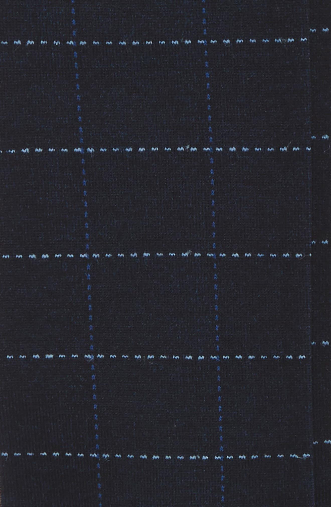 Broken Grid Socks,                             Alternate thumbnail 2, color,                             001