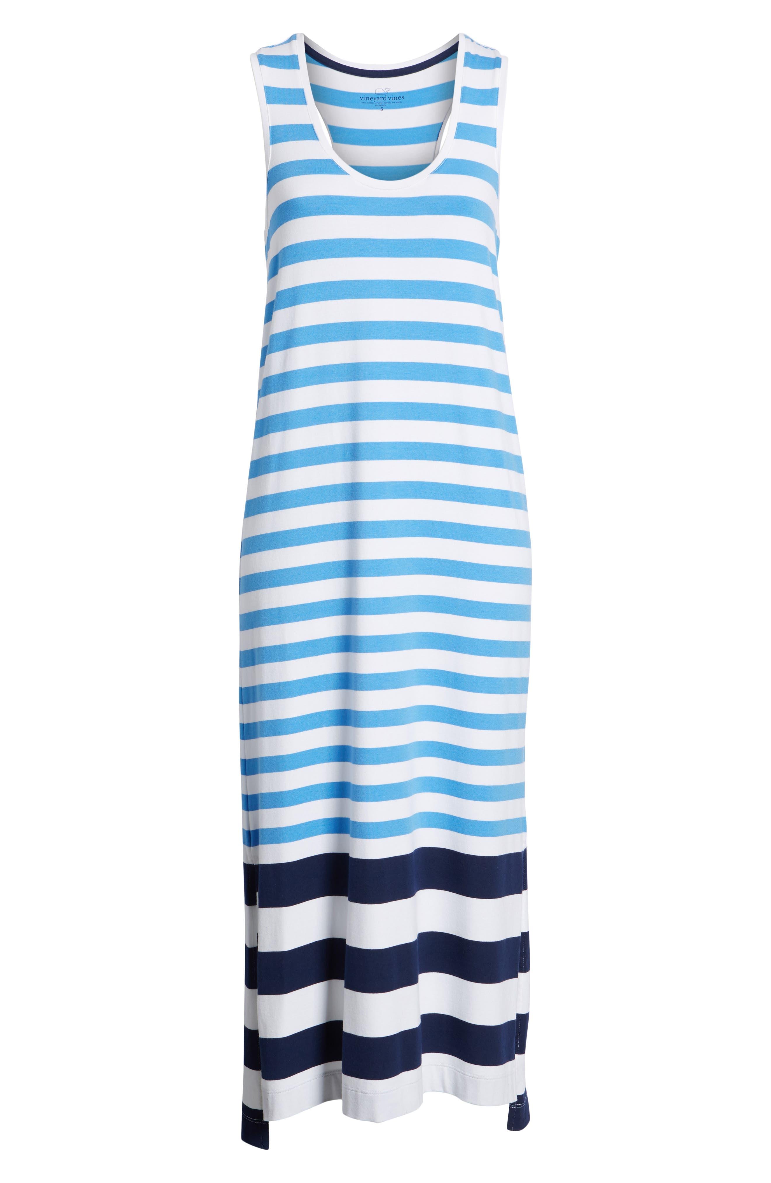 Striped Maxi Tank Dress,                             Alternate thumbnail 7, color,