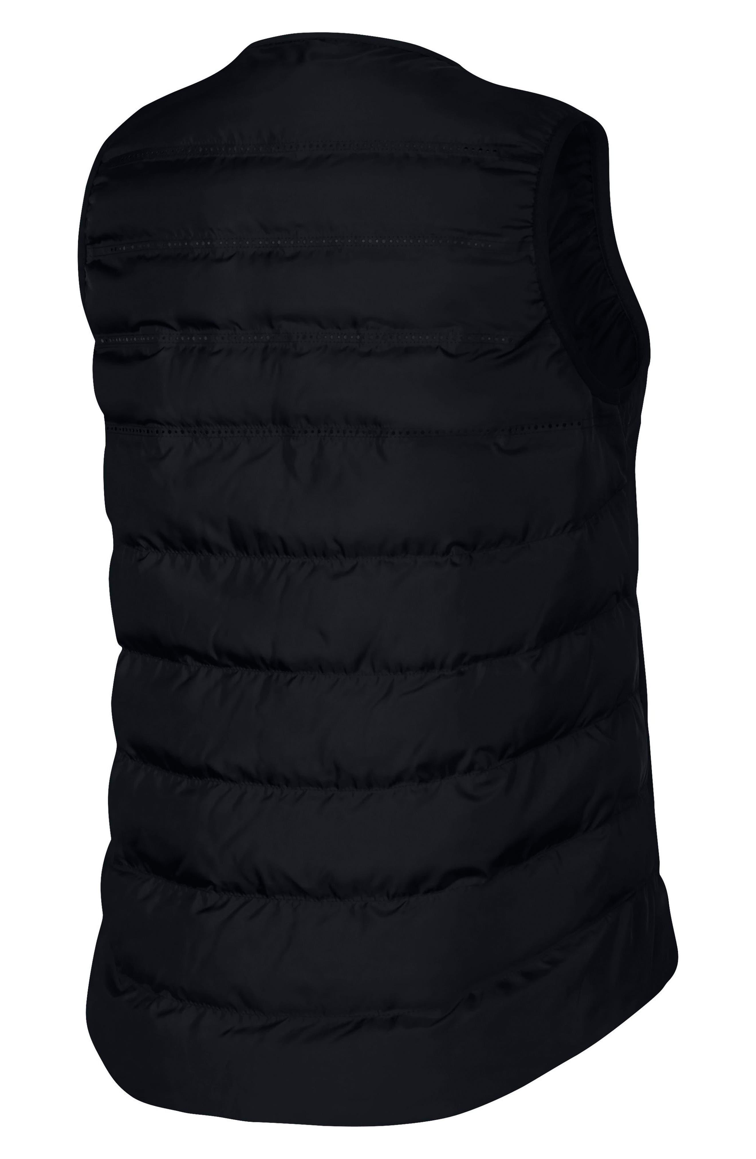 AeroLoft Water Repellent Running Vest,                             Alternate thumbnail 4, color,                             010