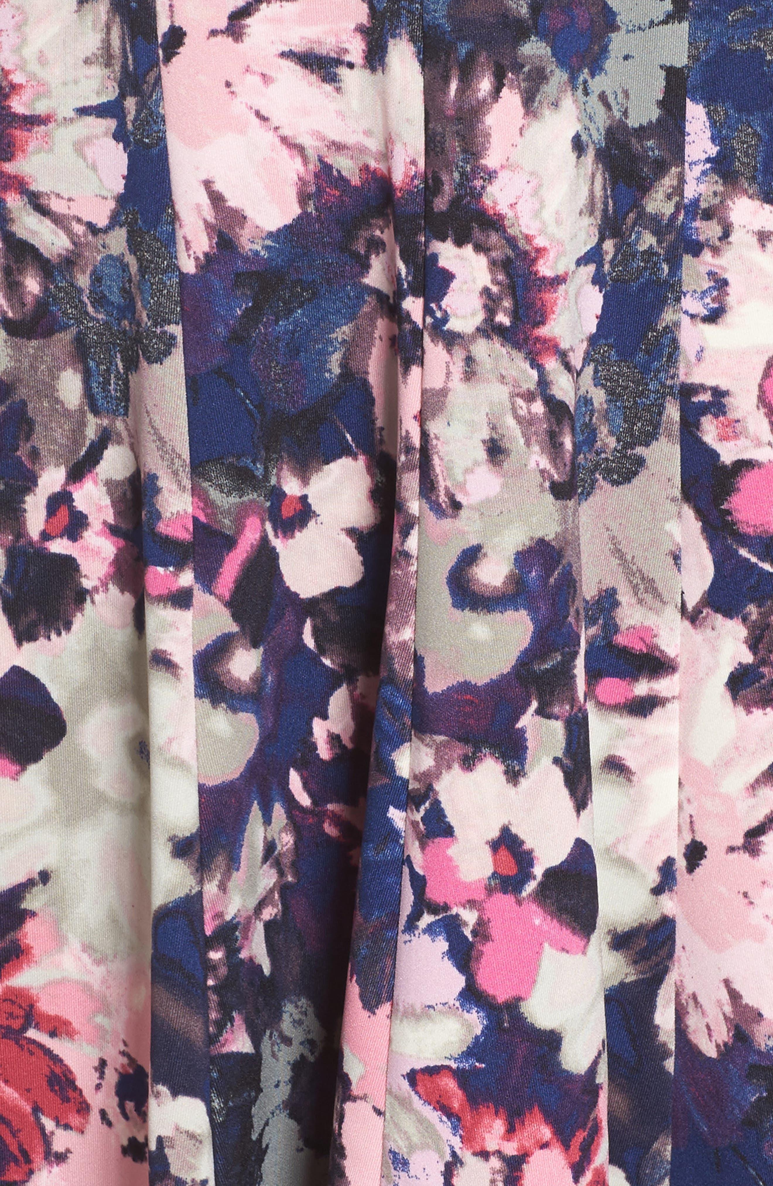 Fit & Flare Dress,                             Alternate thumbnail 5, color,                             410