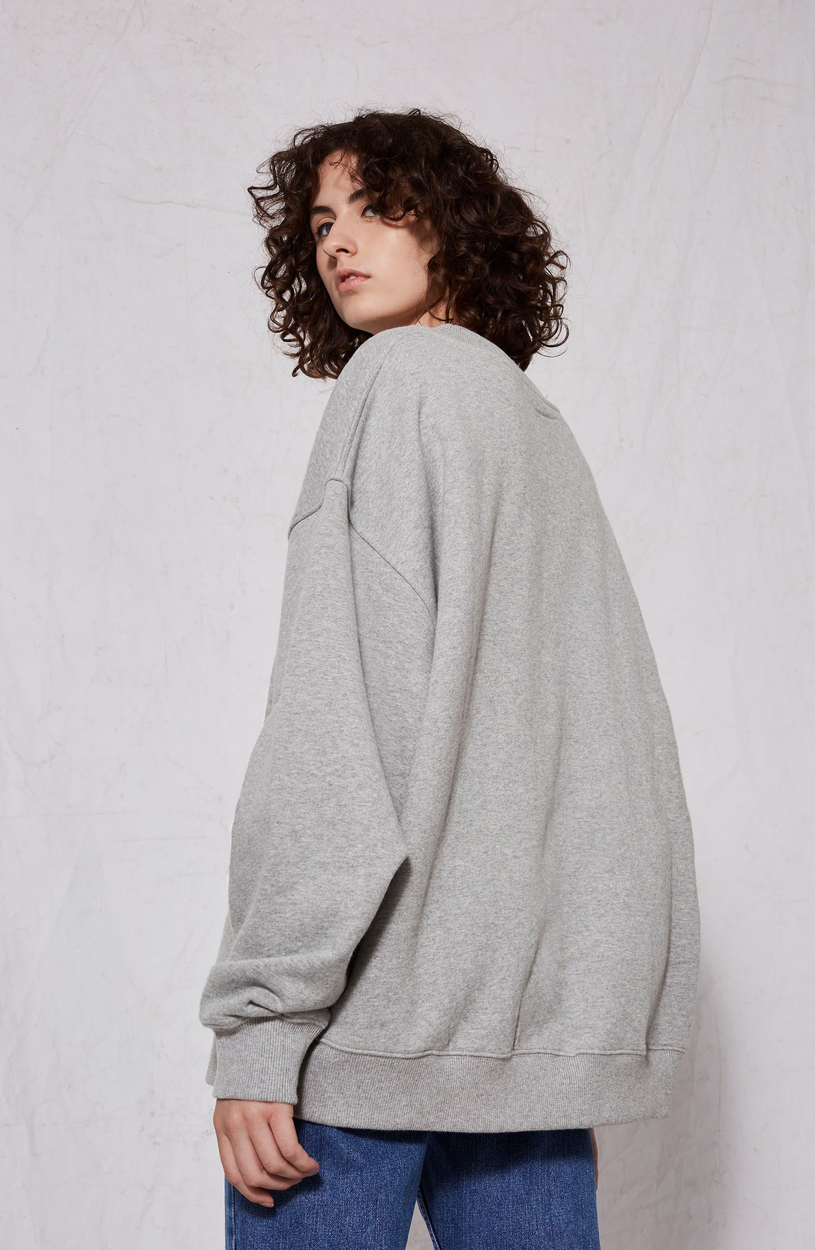 Oversize Sweatshirt,                             Alternate thumbnail 6, color,                             020
