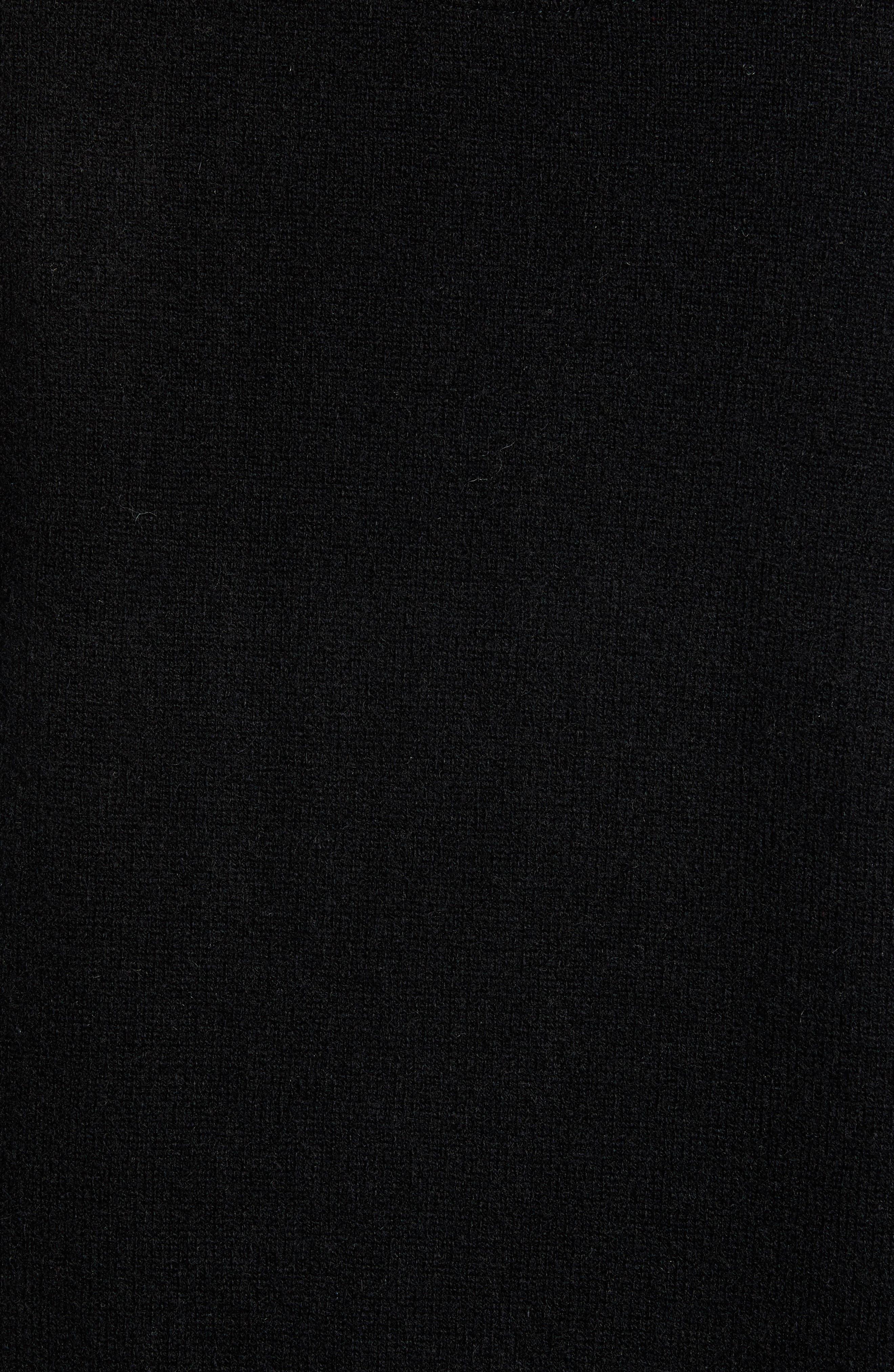 Cashmere V-Neck Sweater Vest,                             Alternate thumbnail 5, color,                             BLACK CAVIAR