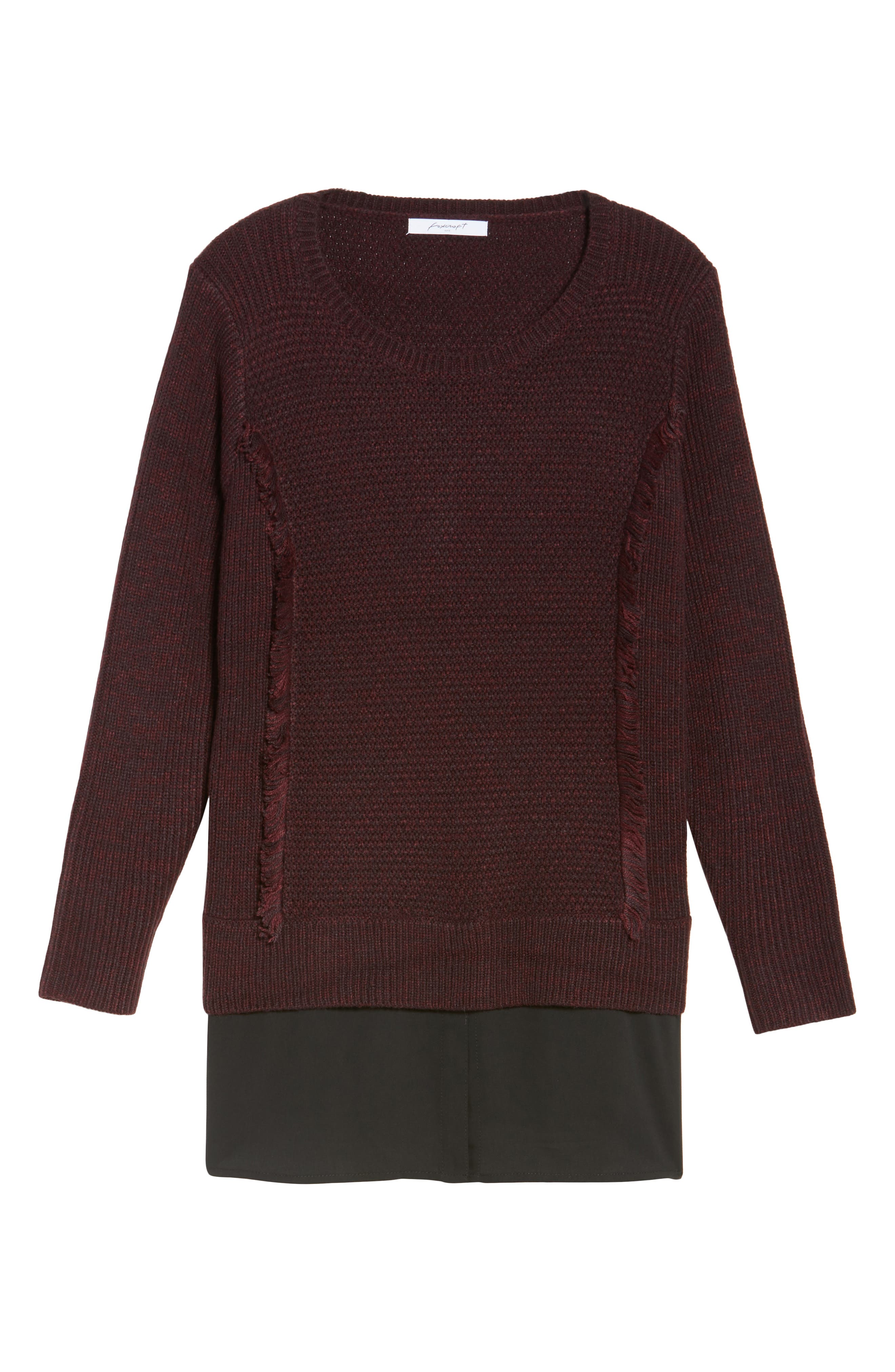 Sophia Layered Look Sweater,                             Alternate thumbnail 6, color,                             606