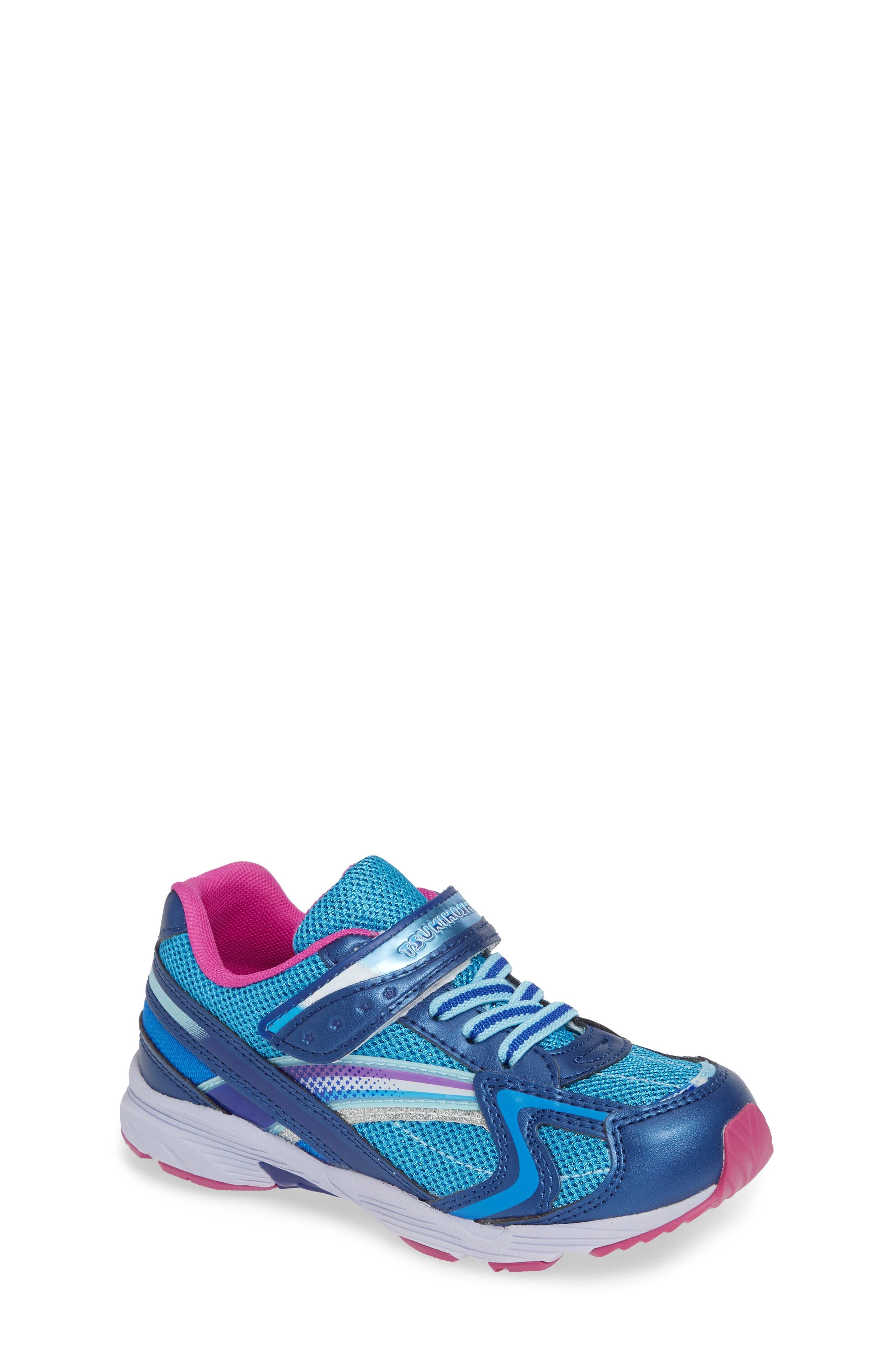 Glitz Washable Sneaker,                             Main thumbnail 1, color,                             NAVY/ BERRY
