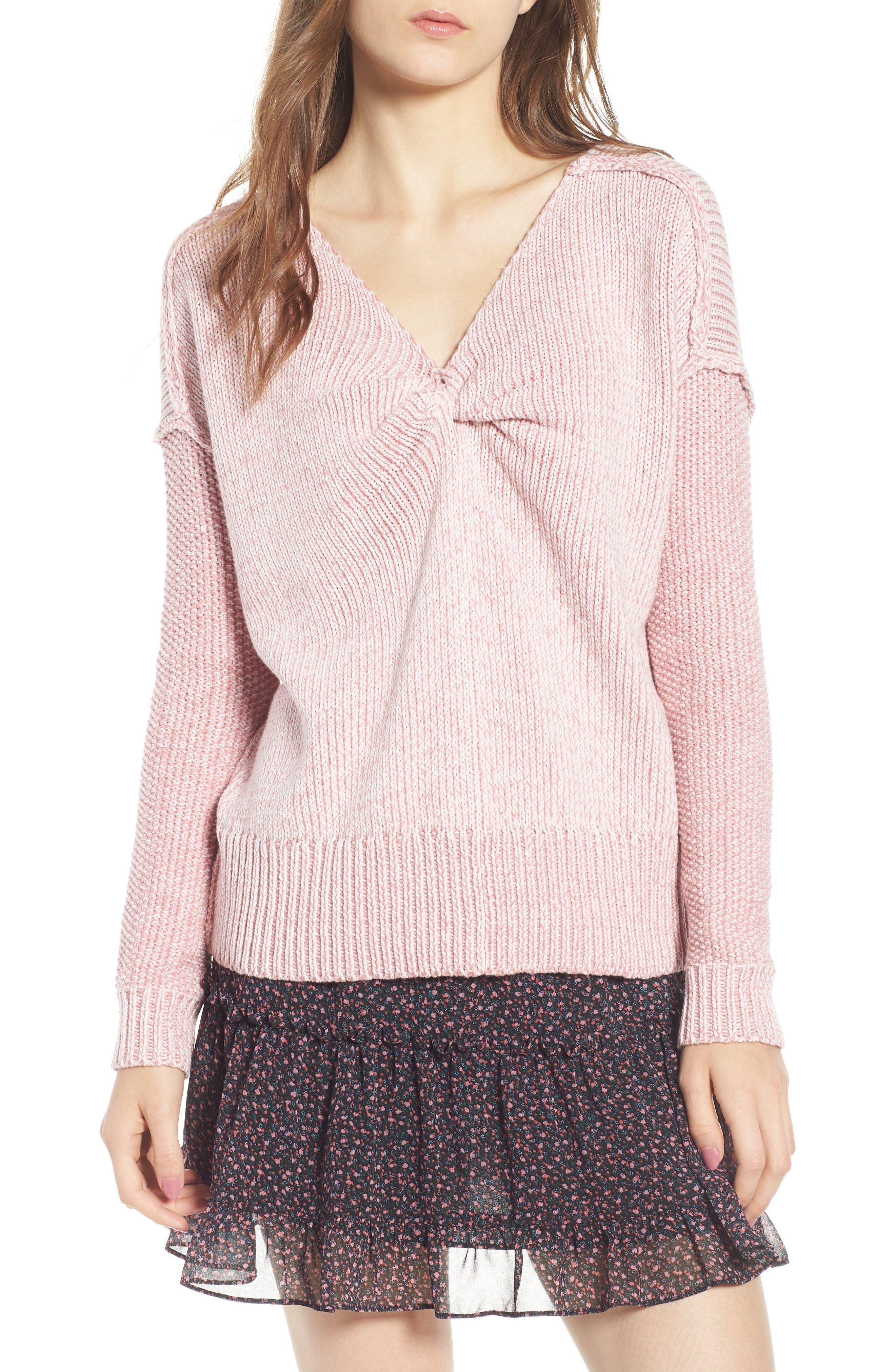Lola Reversible Twist Sweater,                             Alternate thumbnail 6, color,
