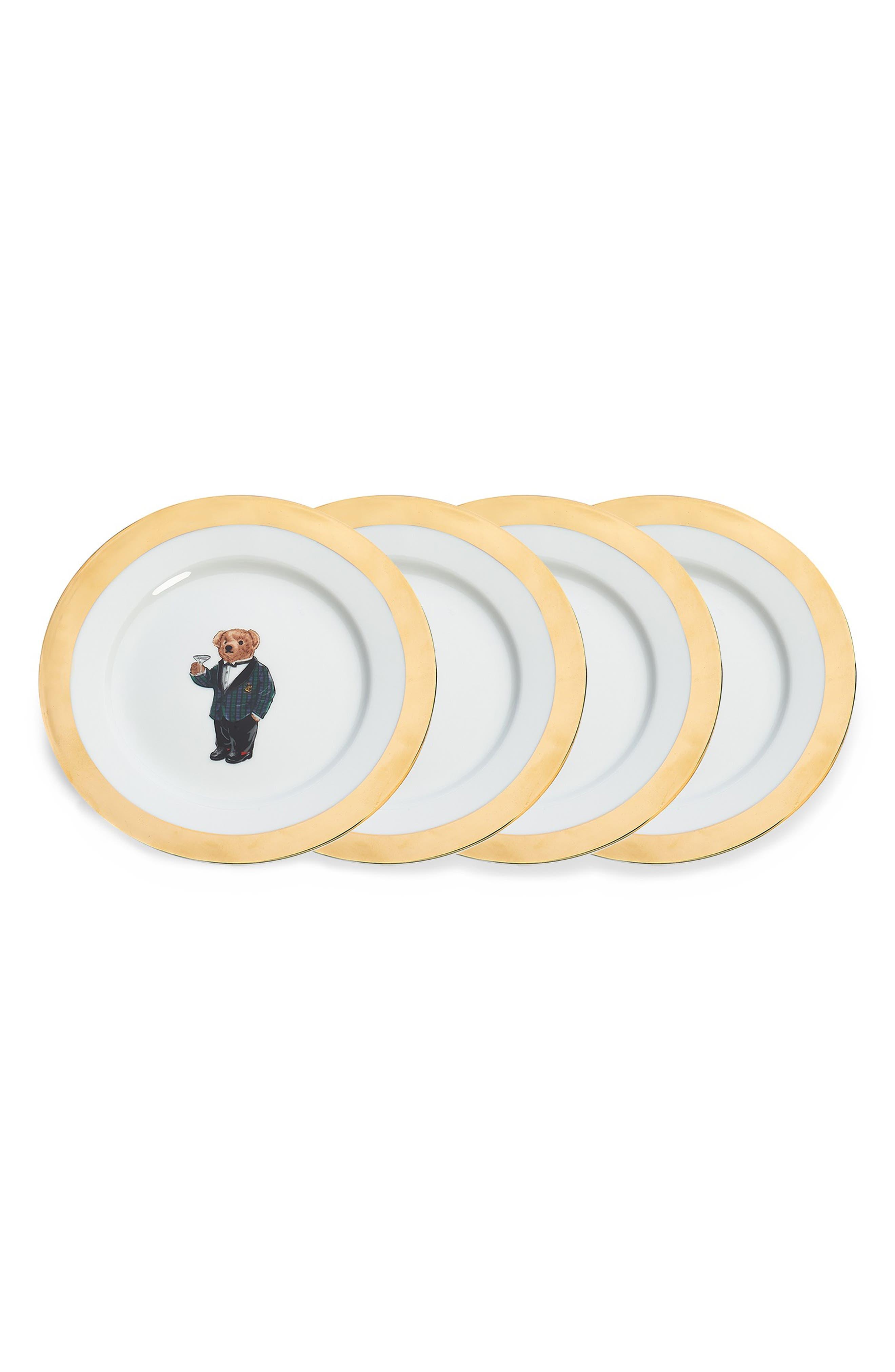RALPH LAUREN,                             Thompson Set of 4 Dessert Plates,                             Main thumbnail 1, color,                             ASSORTED