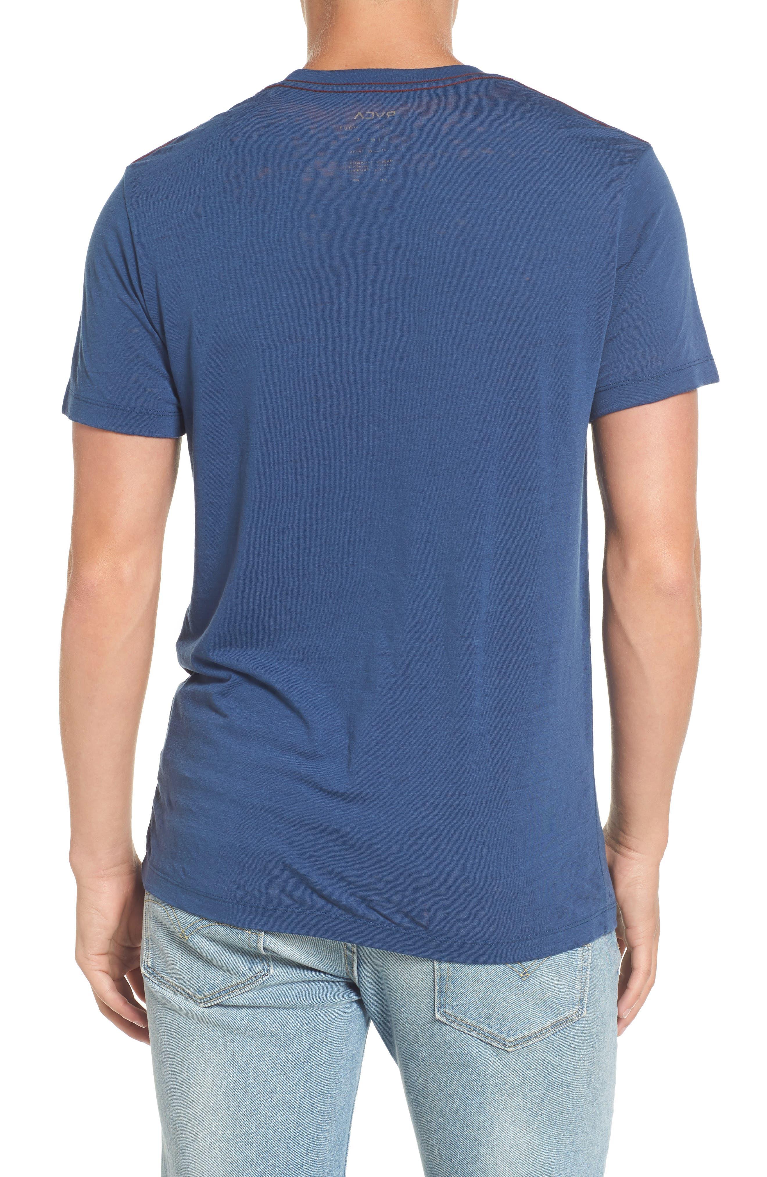 Flipped Perimeter Burnout T-Shirt,                             Alternate thumbnail 6, color,