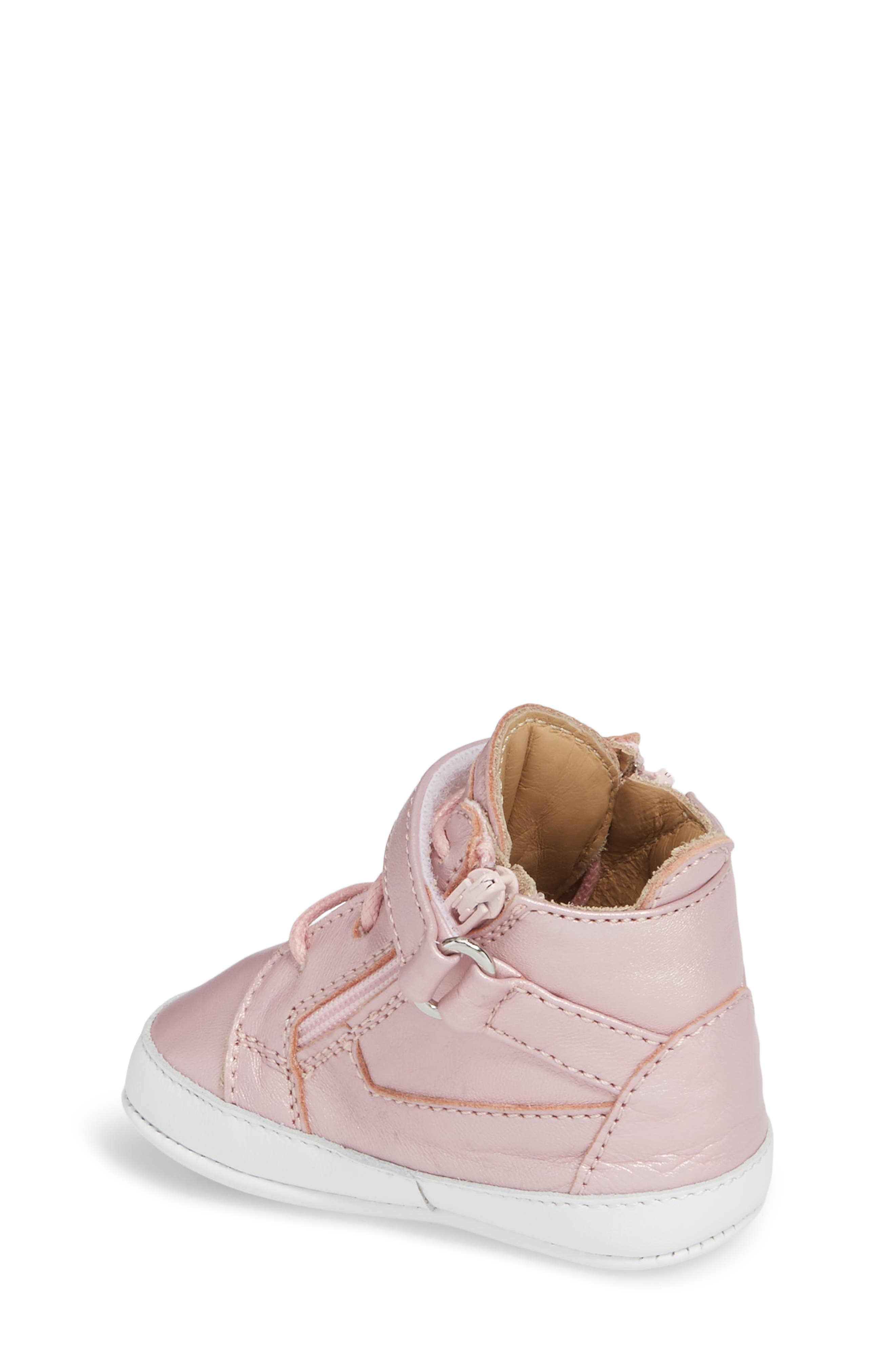Culla London High Top Crib Sneaker,                             Alternate thumbnail 6, color,