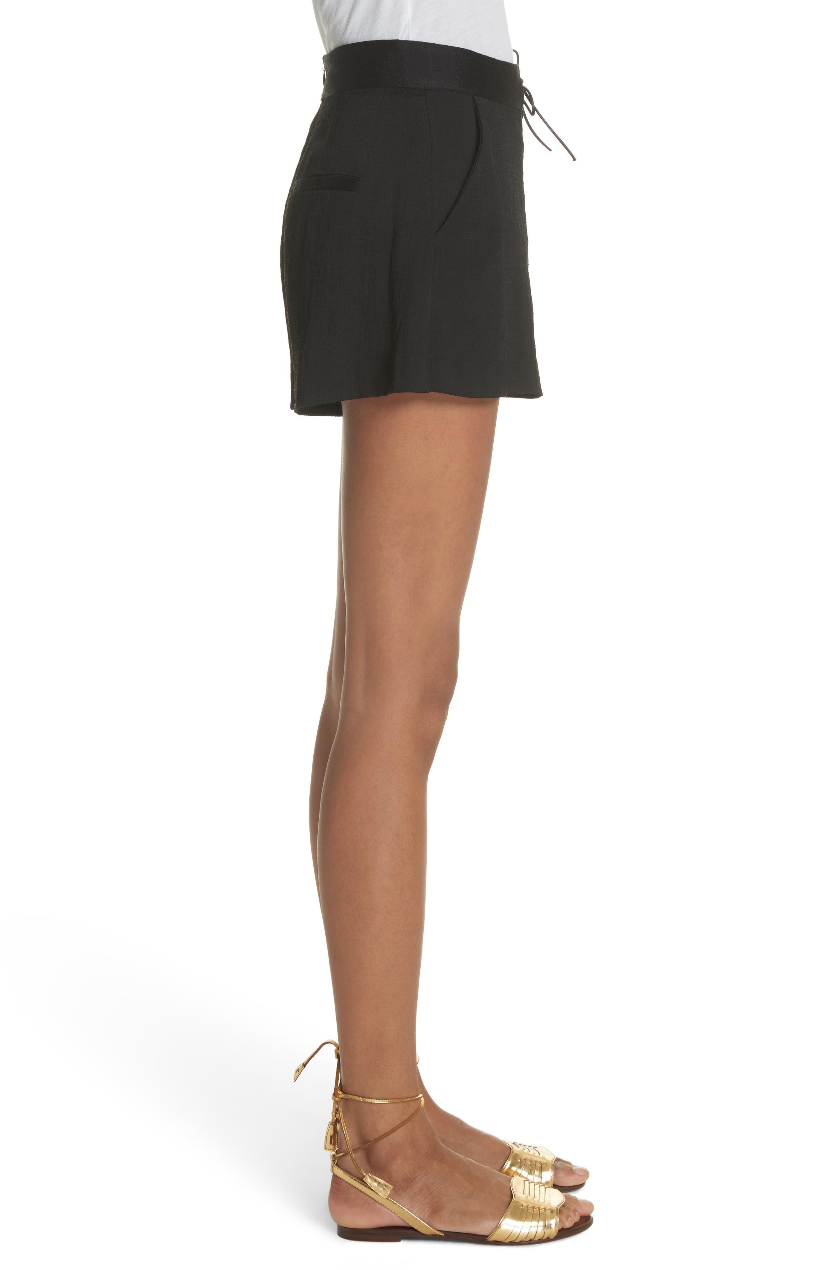 Lulu Lace-Up Shorts,                             Alternate thumbnail 3, color,                             001