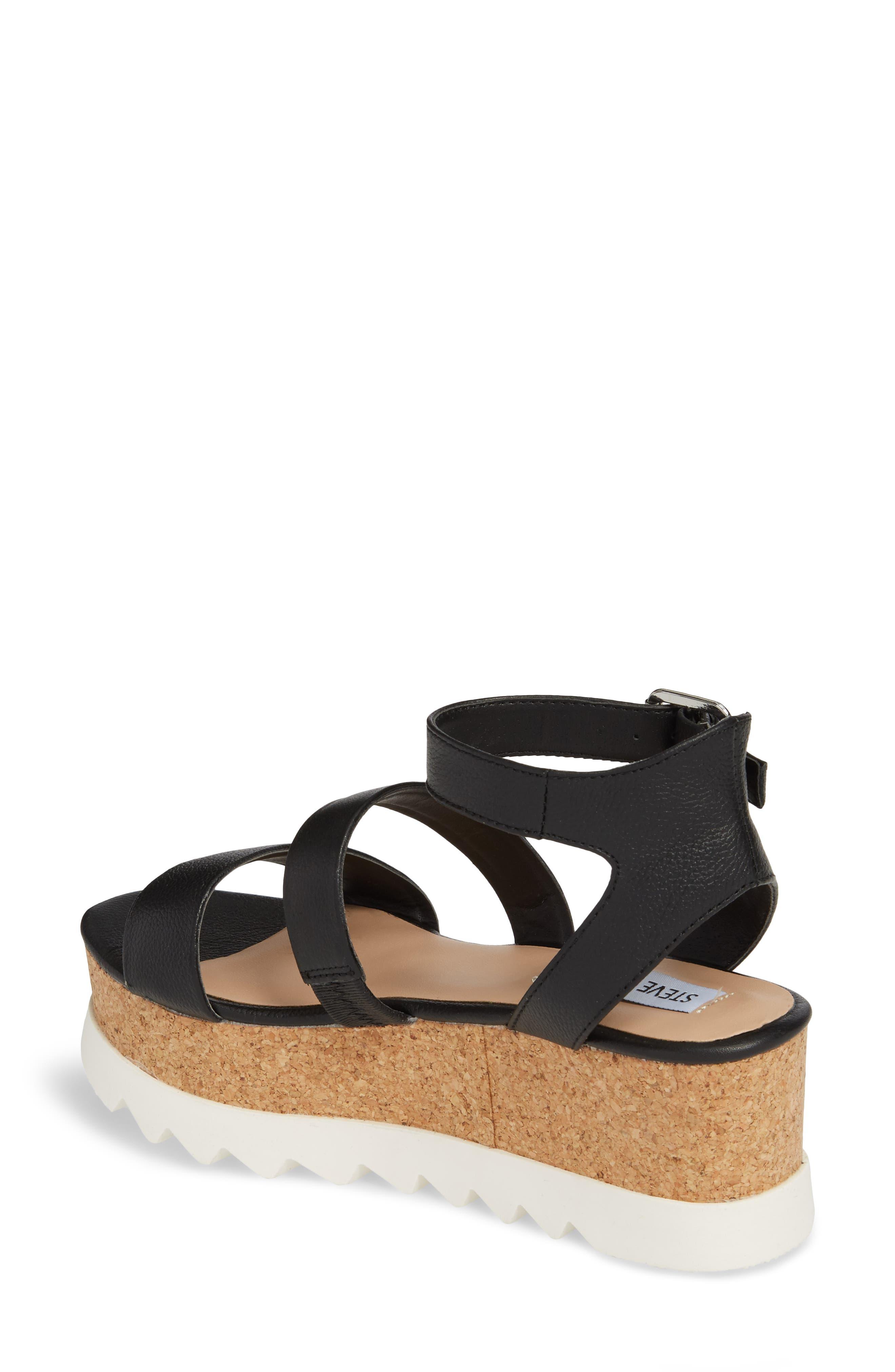 Kirsten Layered Platform Sandal,                             Alternate thumbnail 2, color,                             001
