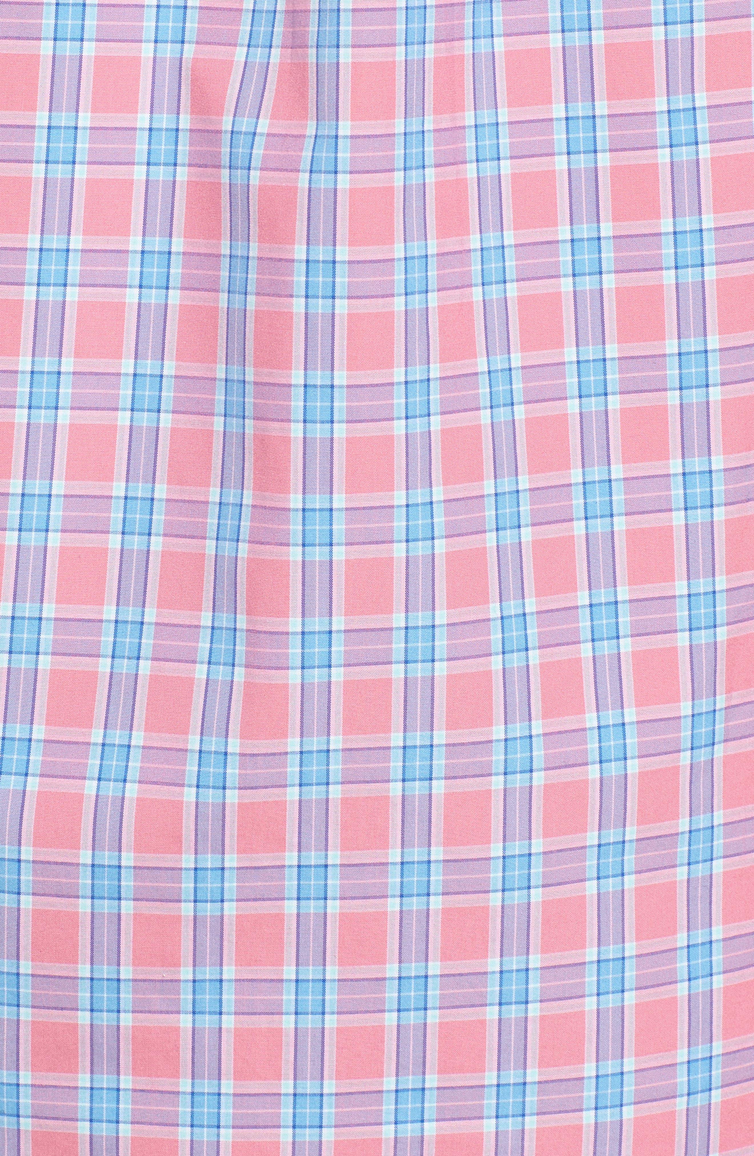 Tucker Bayard Classic Fit Plaid Sport Shirt,                             Alternate thumbnail 5, color,                             650