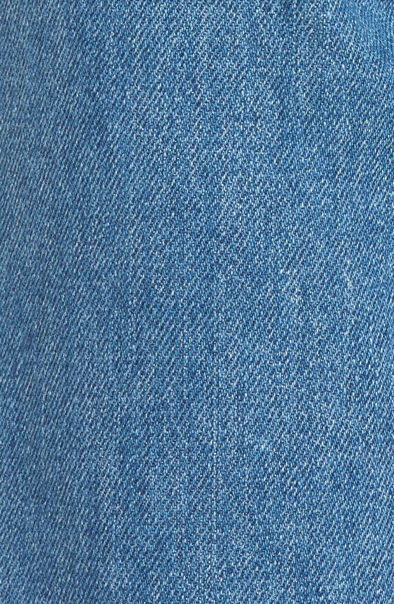 High Waist Straight Leg Jeans,                             Alternate thumbnail 5, color,                             404