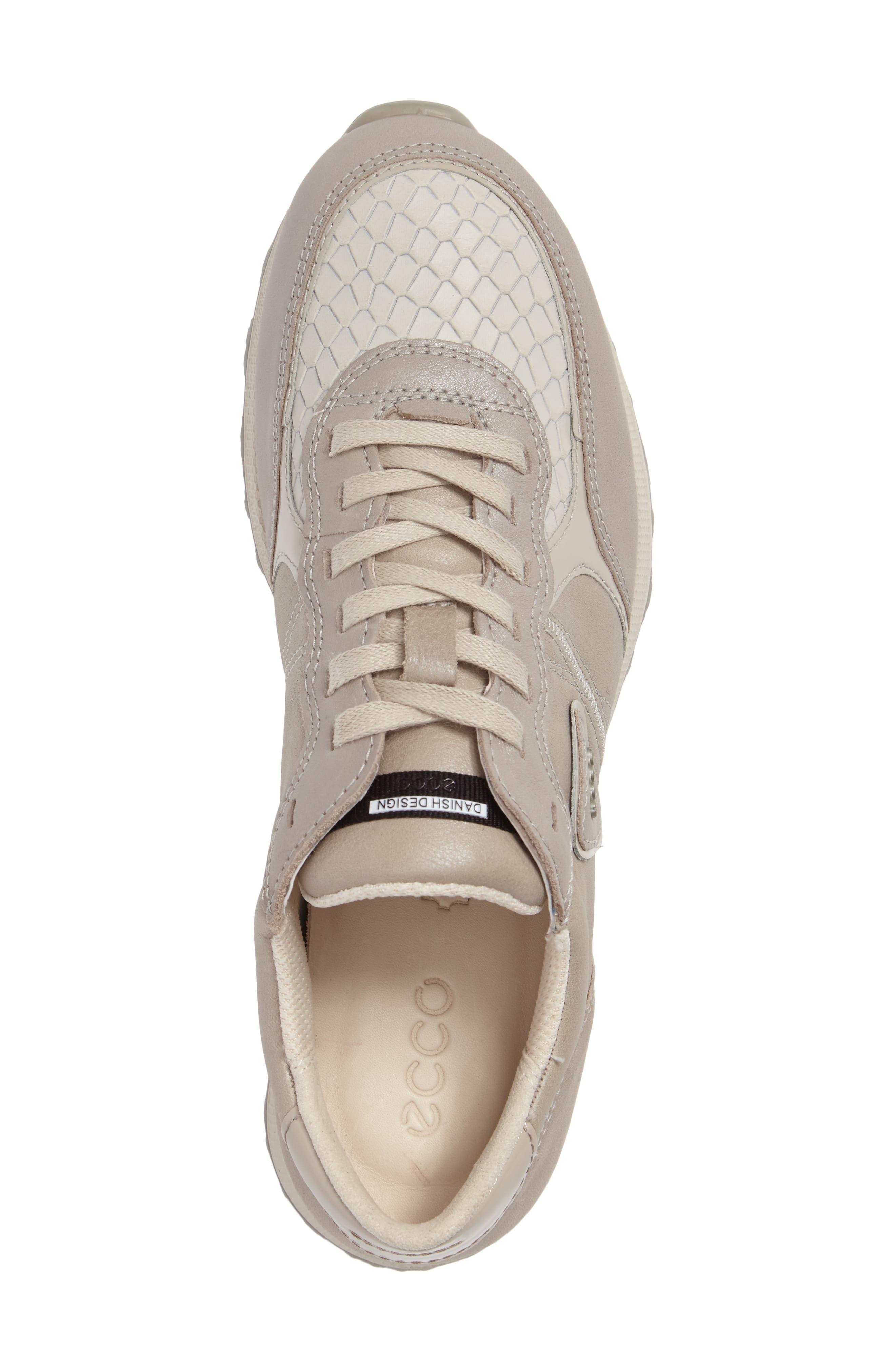 Retro Sneaker,                             Alternate thumbnail 5, color,                             GRAVEL/ WHITE LEATHER