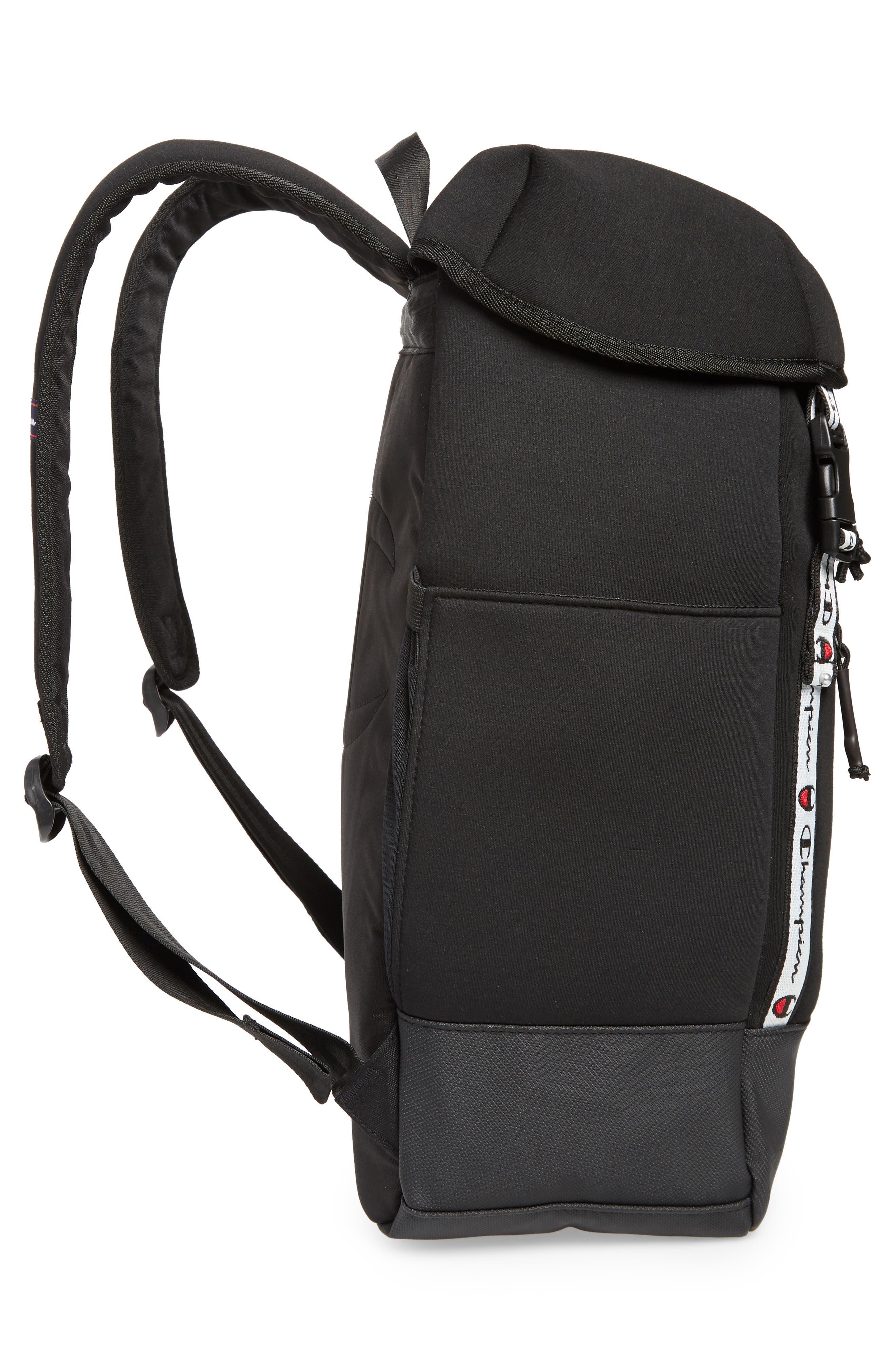 Top Load Backpack,                             Alternate thumbnail 5, color,                             BLACK