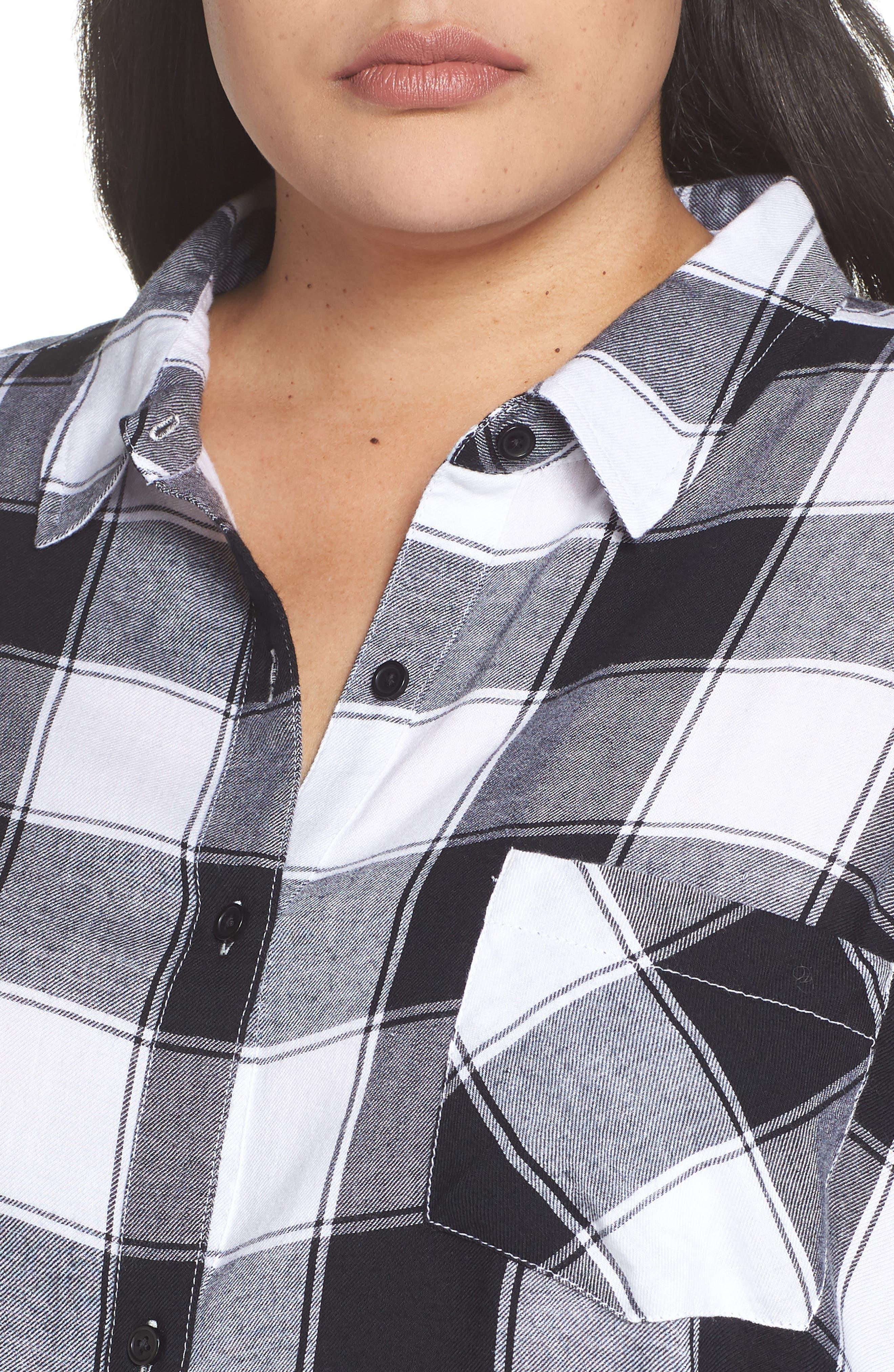 Plaid Shirt,                             Alternate thumbnail 4, color,                             BLACK DALEY PLAID