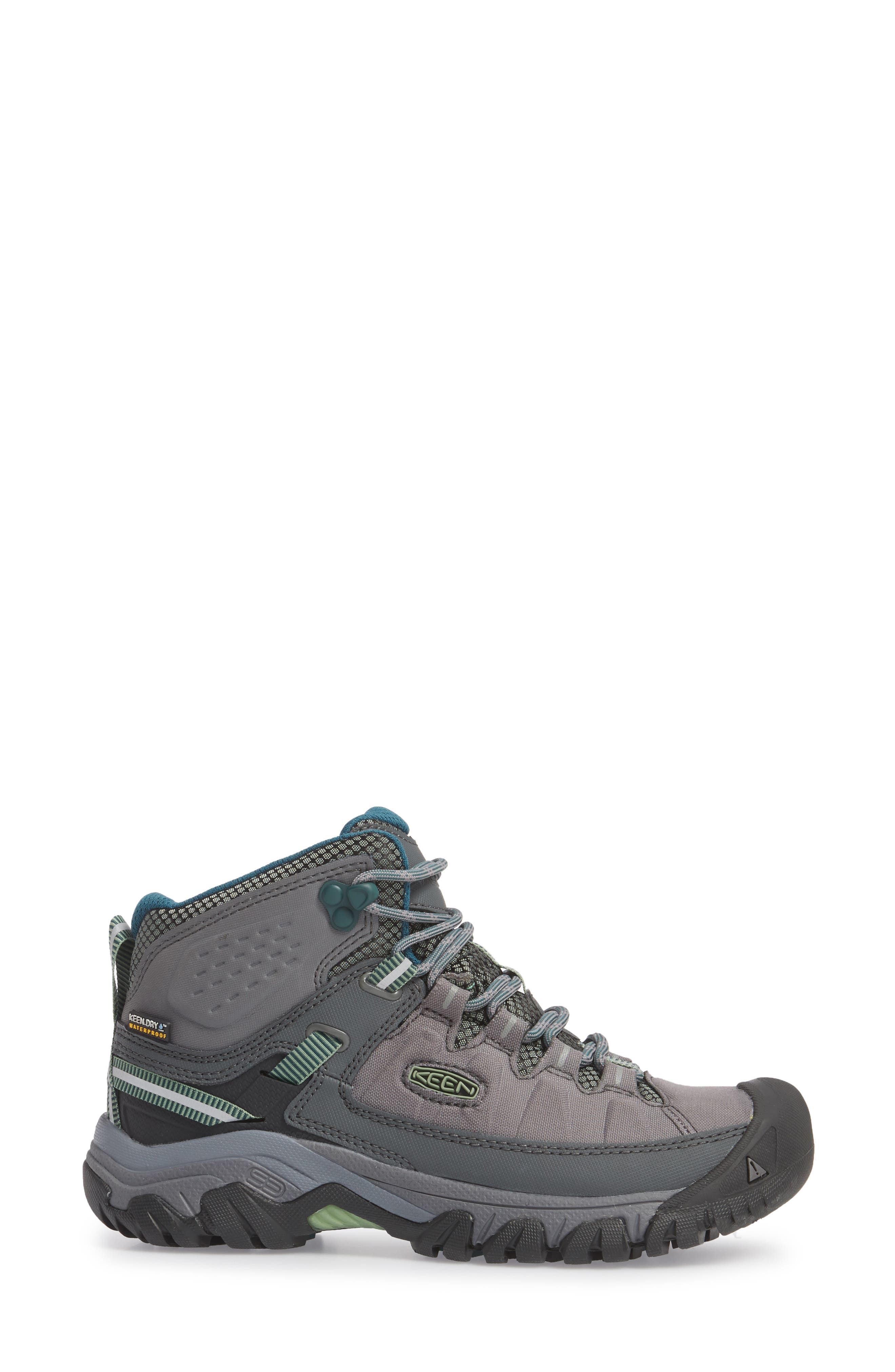 Targhee EXP Mid Waterproof Hiking Shoe,                             Alternate thumbnail 3, color,                             STEEL GREY/ BASIL