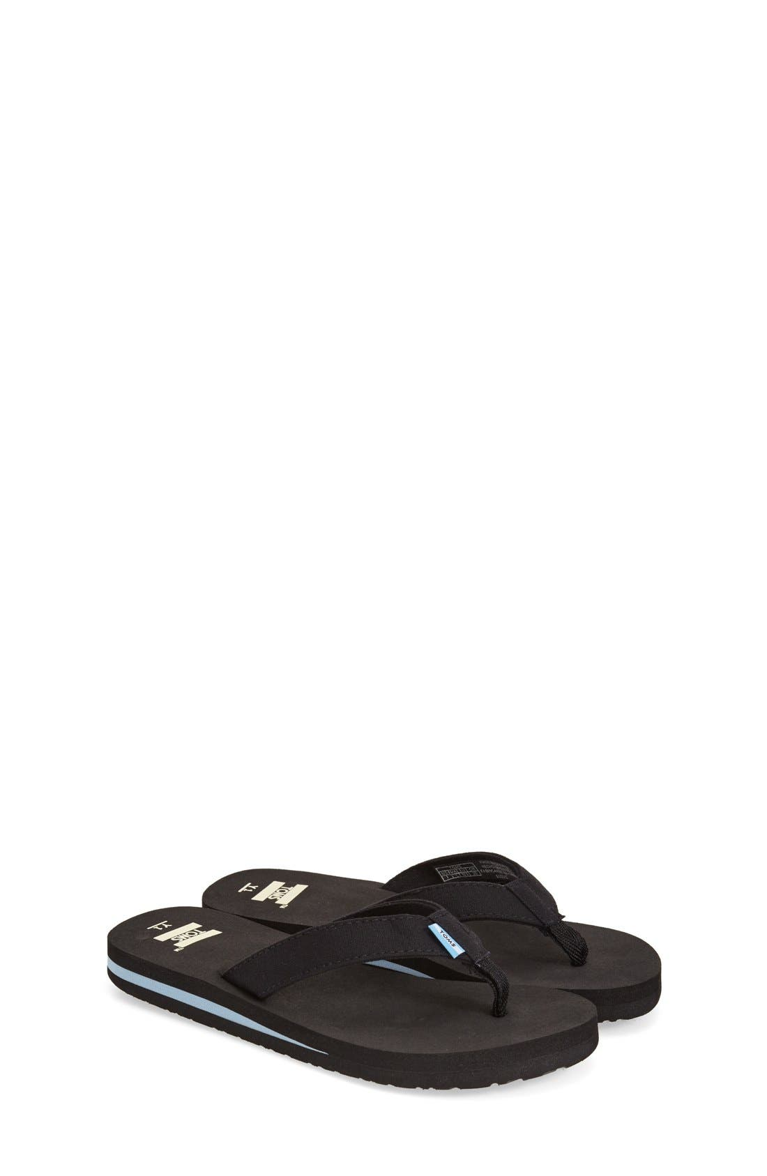 'Verano' Flip Flop,                             Main thumbnail 1, color,                             BLACK