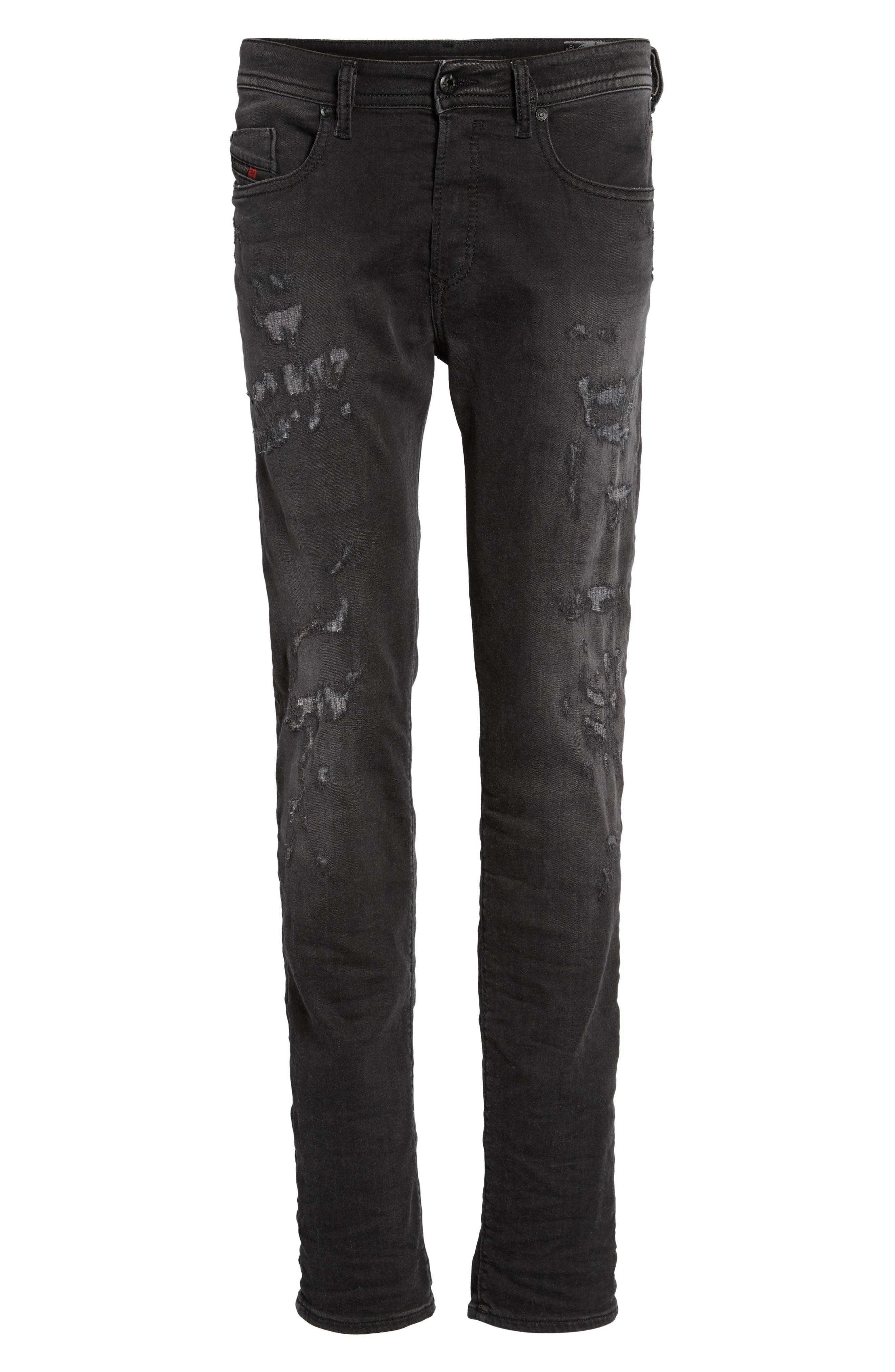 Buster Slim Straight Fit Jeans,                             Alternate thumbnail 6, color,                             008